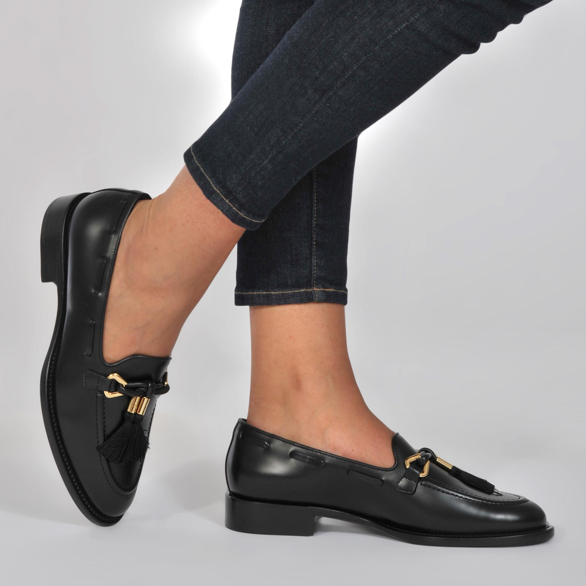 e6dc53f8a71 Giuseppe Zanotti Loafers With Tassles in Black - Lyst