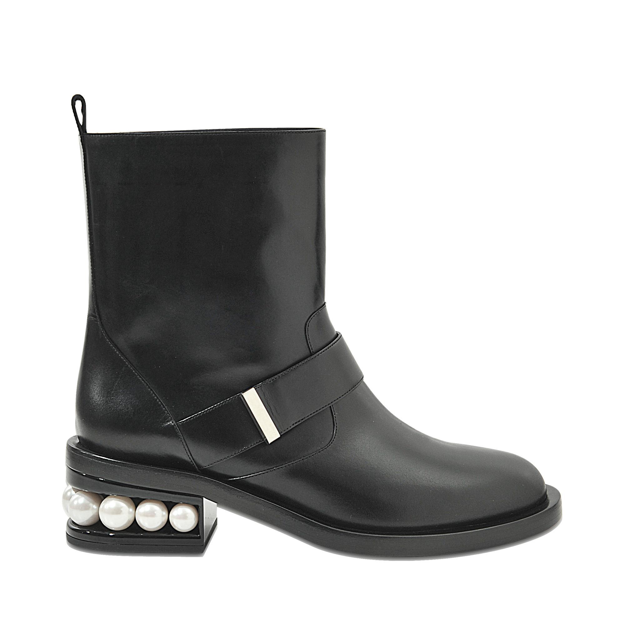 Nicholas Kirkwood Velvet Casati Pearl Biker boots