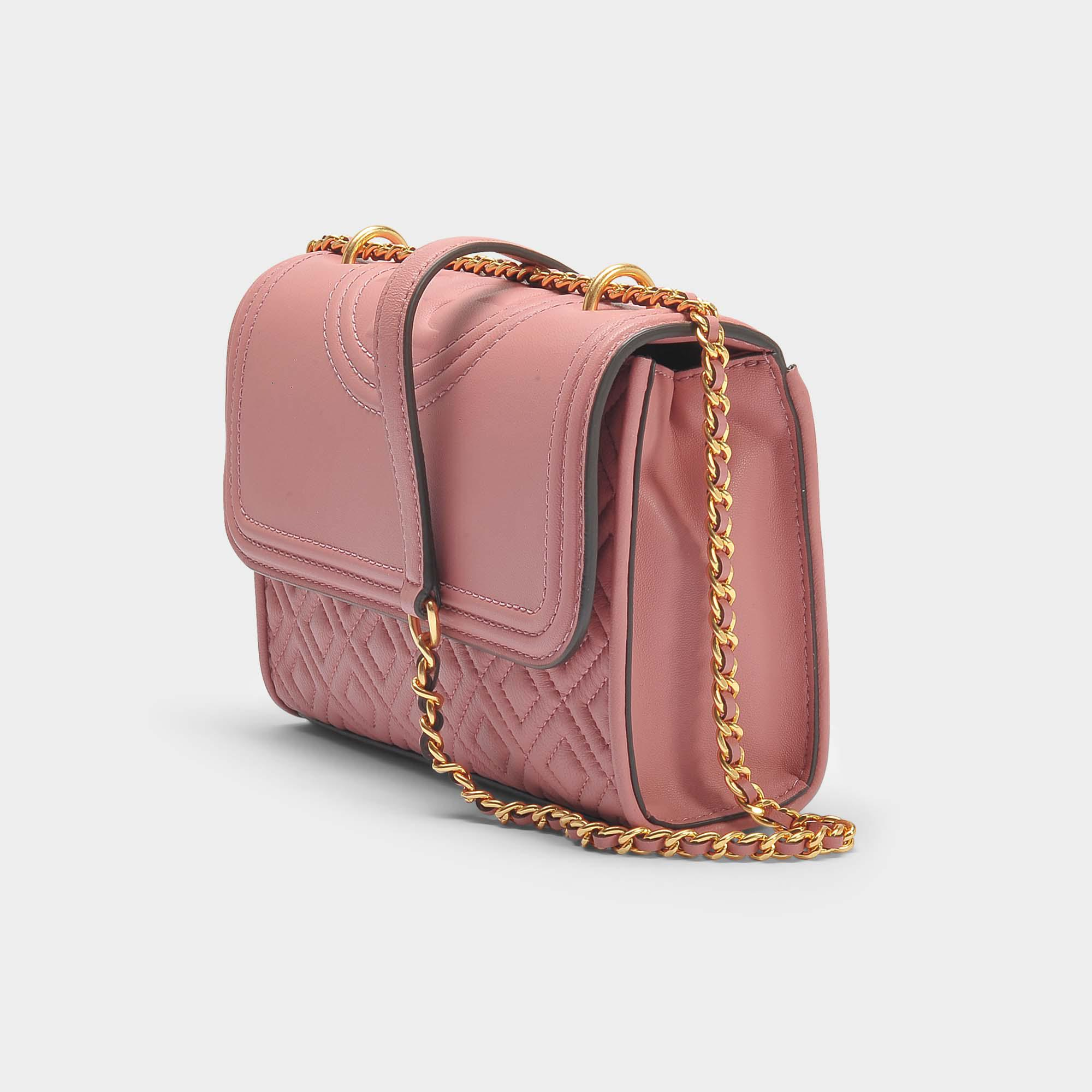 d0803294300 Tory Burch Fleming Small Convertible Shoulder Bag In Pink Magnolia ...