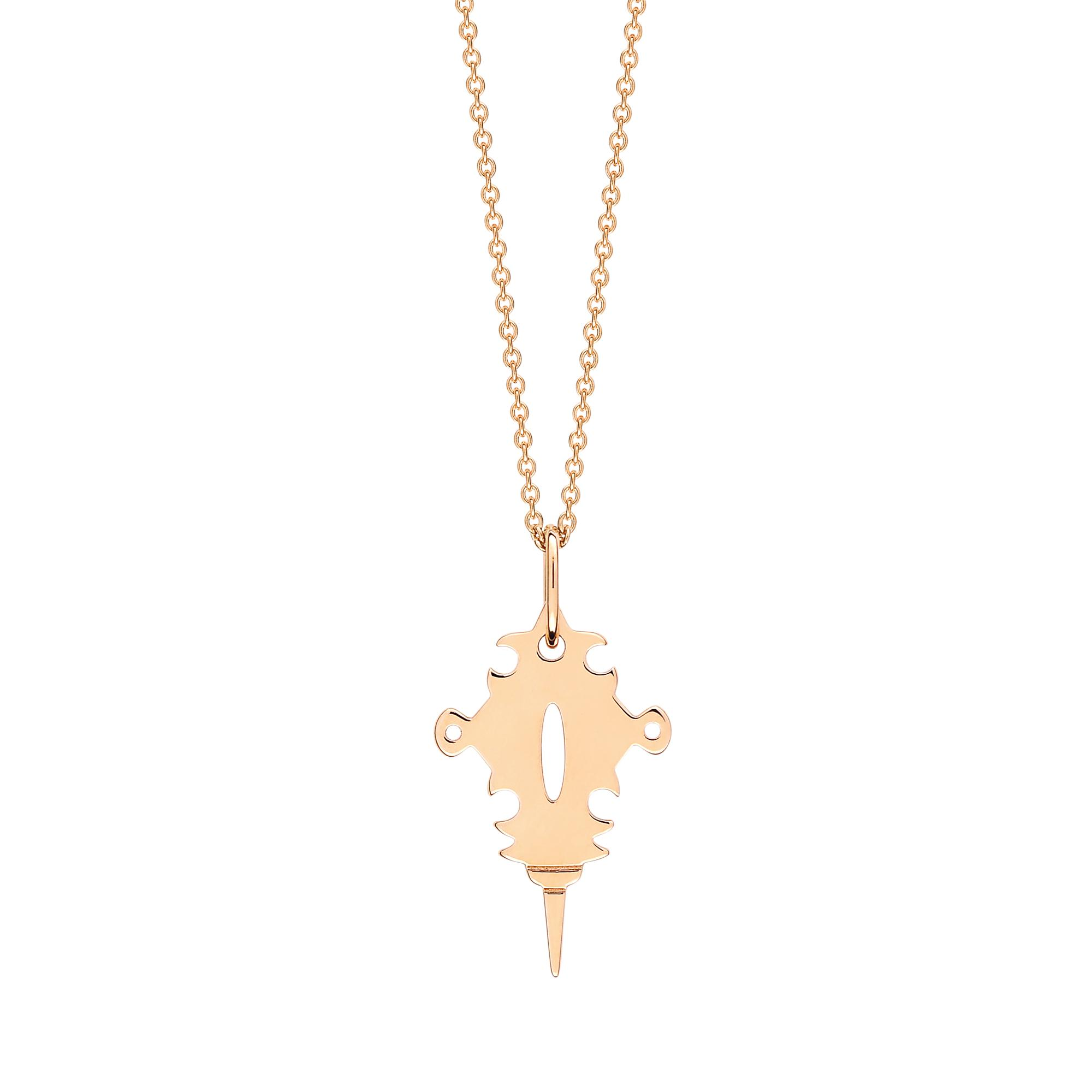 Ginette NY Mini Tanger 18-karat rose gold necklace qI5JaCld