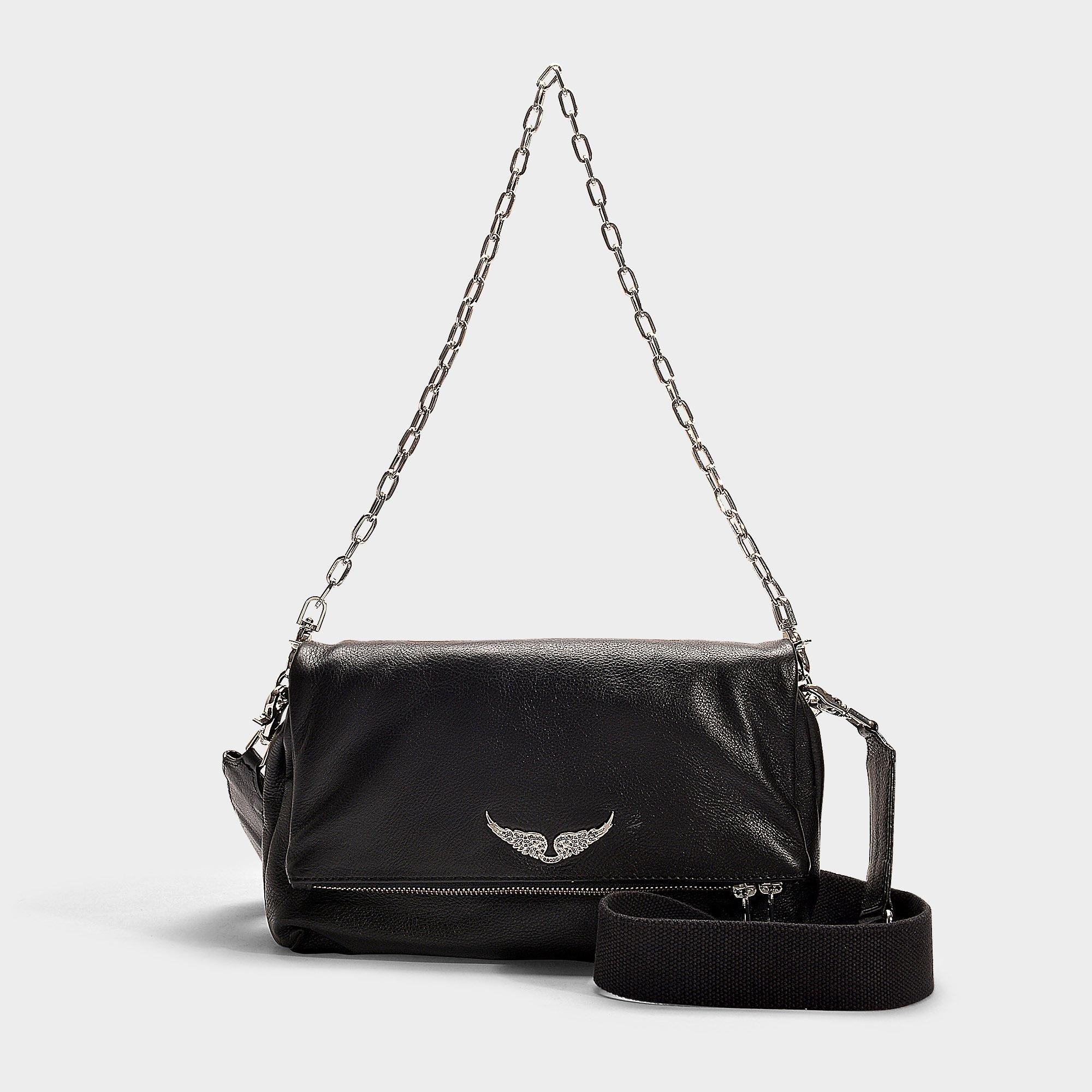 14377f2065e02 Zadig   Voltaire Handtasche mit Schulterriemen Rocky aus schwarzem ...