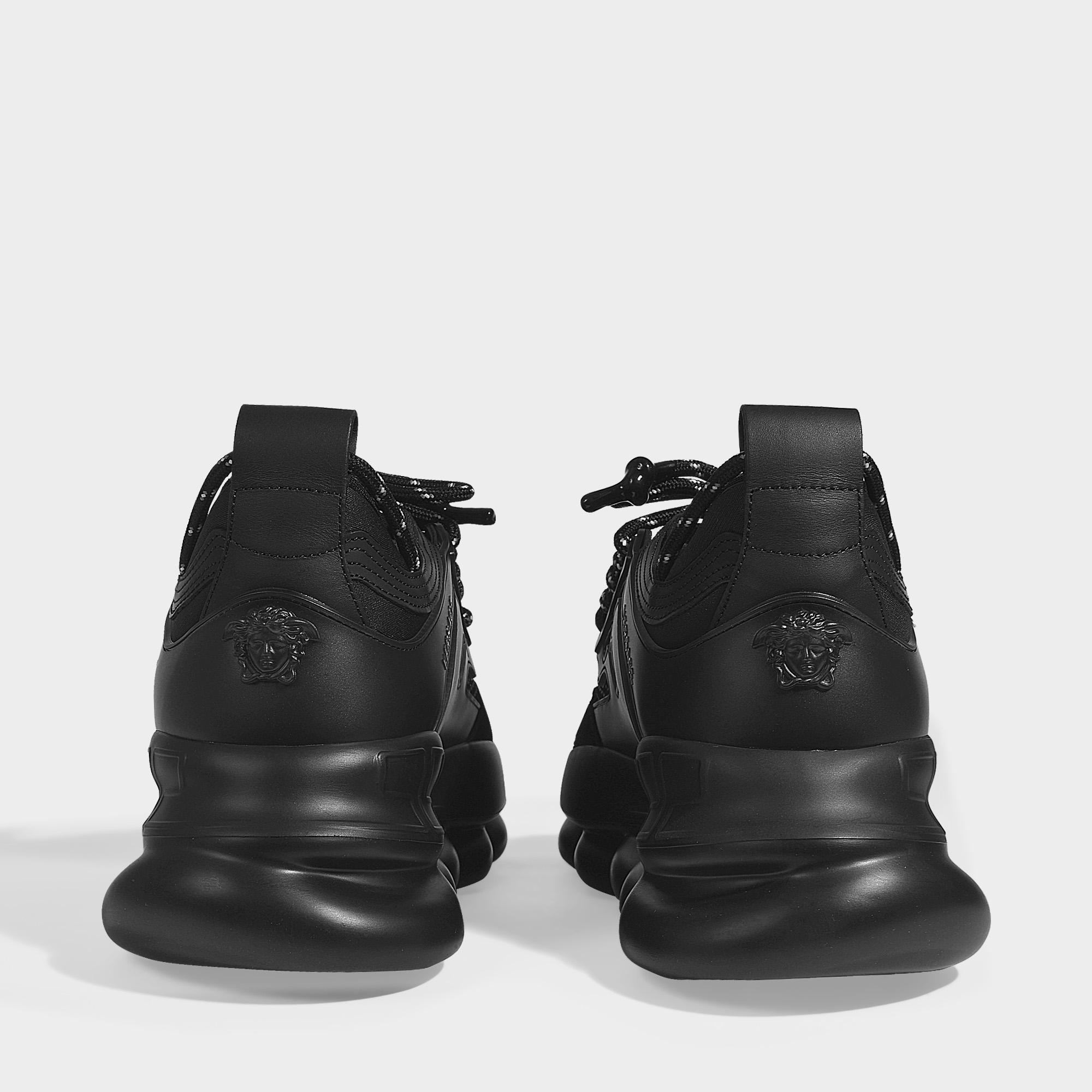 71 Versace En Baskets Noir Toile Noire Coloris Chain Reaction 3q5RjL4A