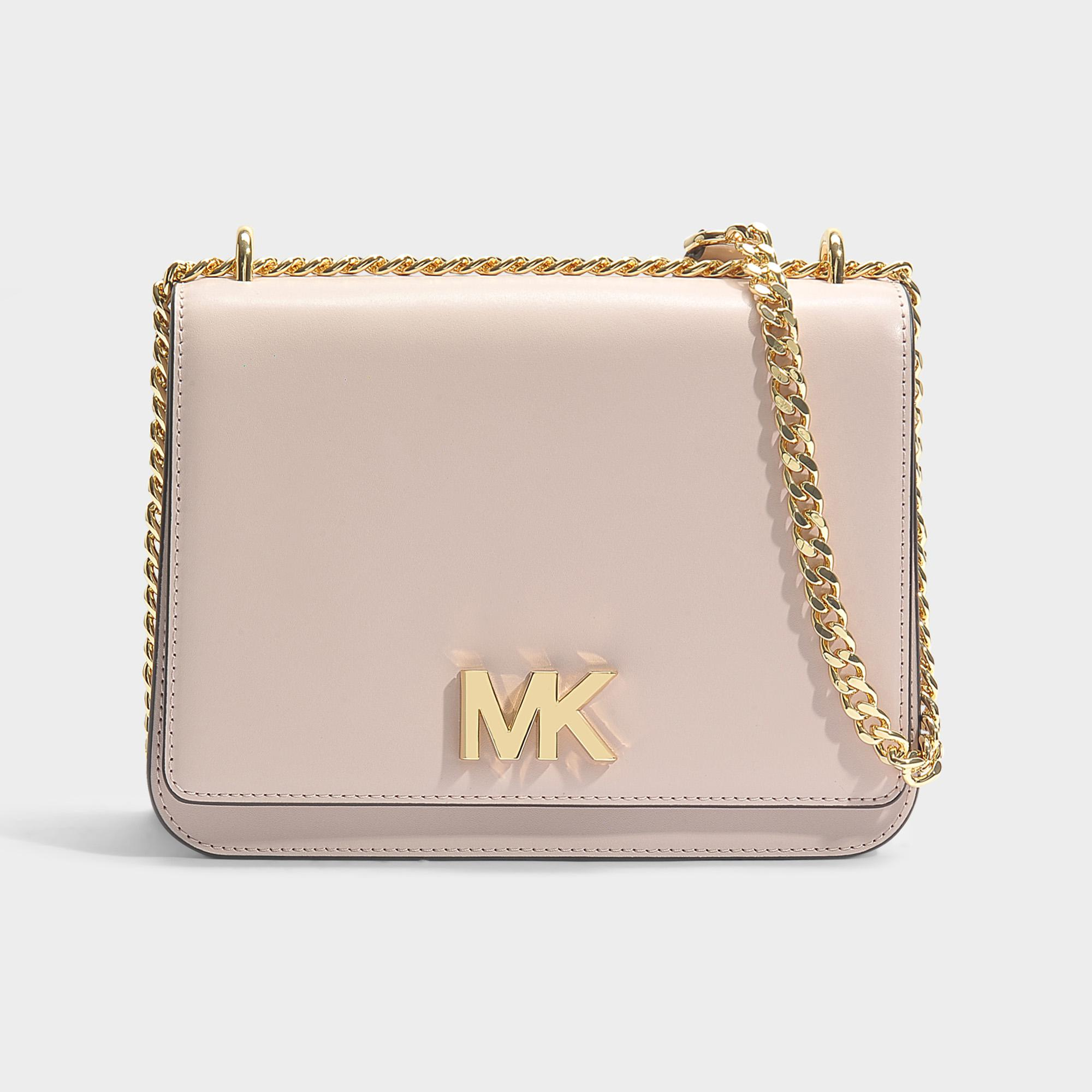 Mott Large Chain Shoulder Bag in Soft Pink Liberty Leather Michael Michael Kors 0VD38R4W