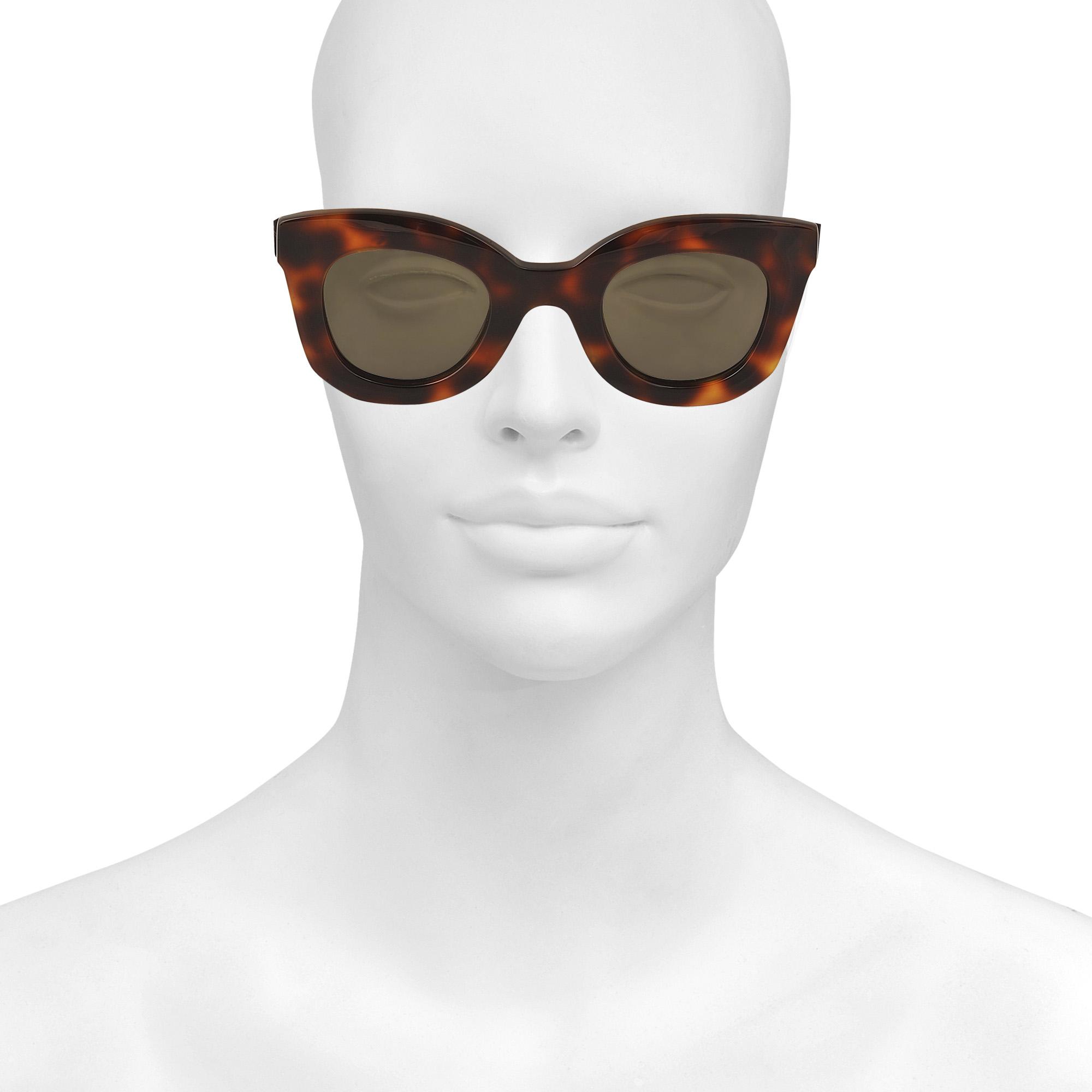 014029844ee Lyst - Céline Cl 41393 s Baby Marta Sunglasses in Brown