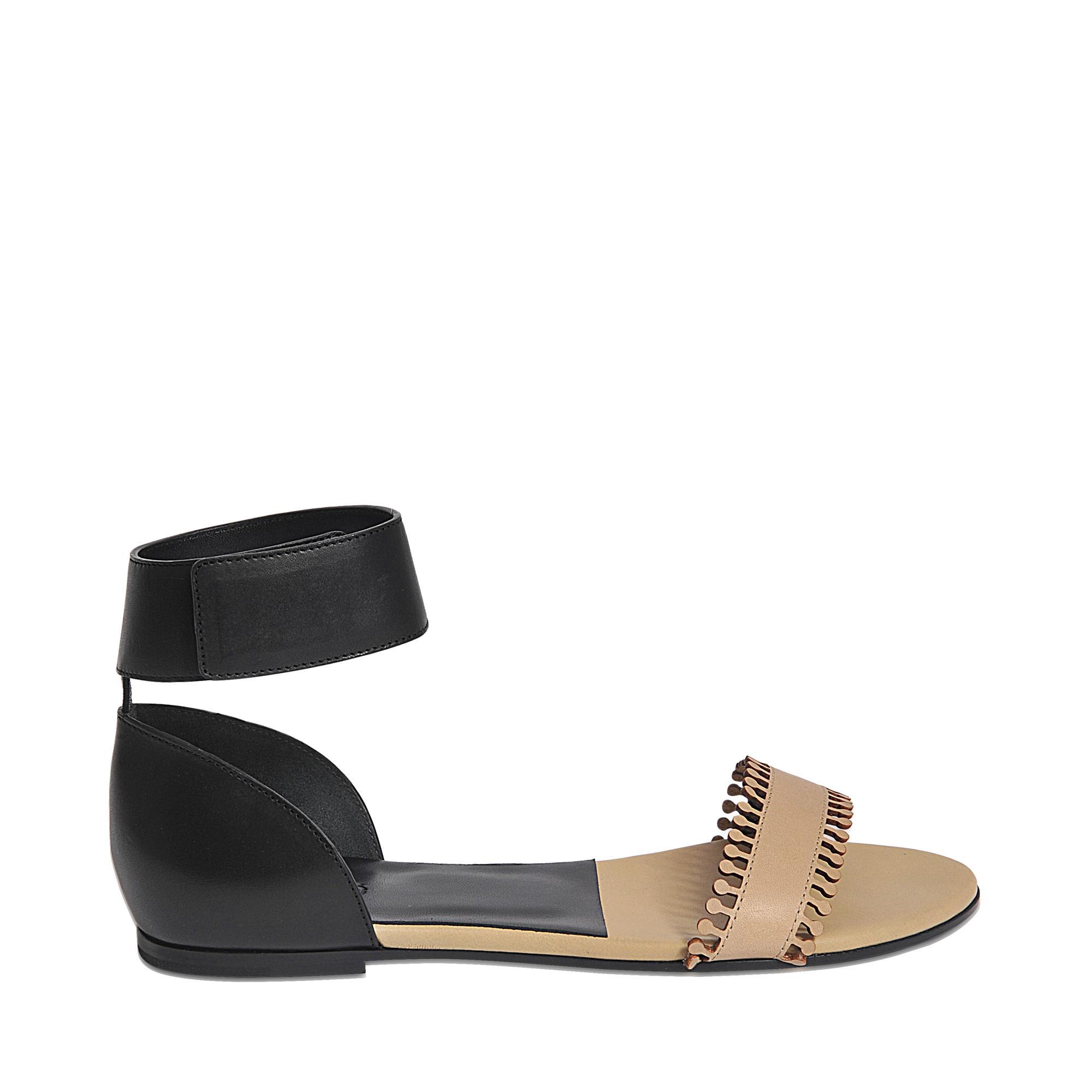 Chlo 233 Gala Flat Sandal In Black Lyst