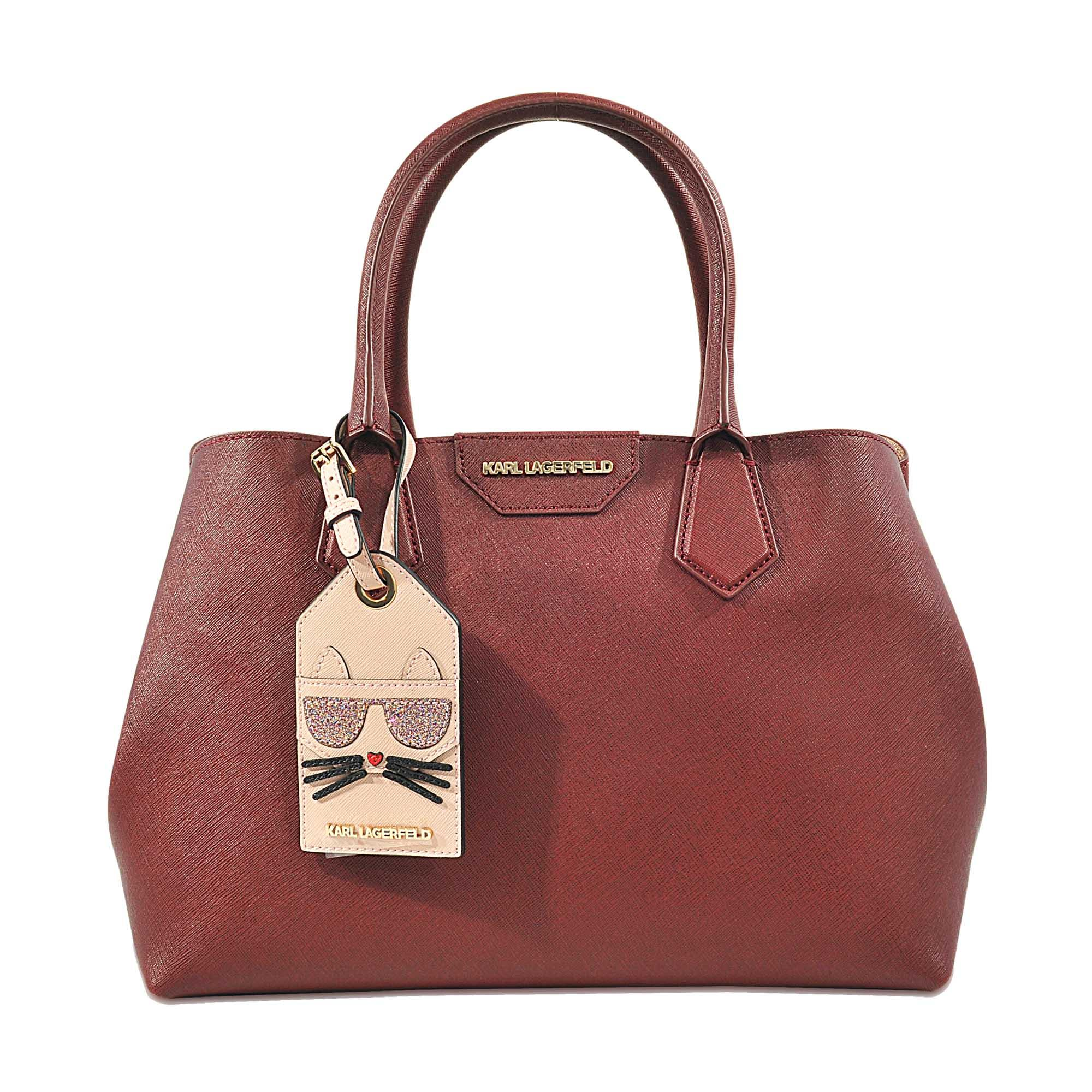 Lyst - Karl Lagerfeld K Lady Shopper Bag in Red dafc245c432b9