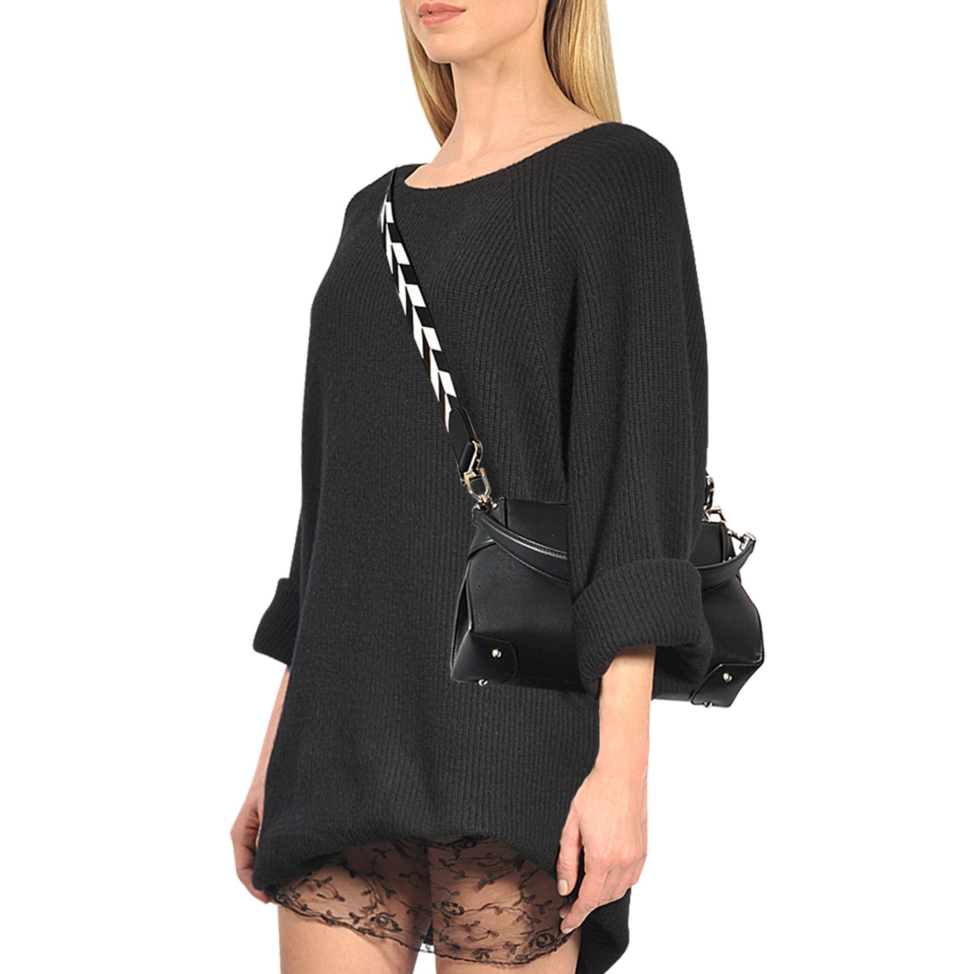 079ea8a6b261 Lyst - Michael Kors Miranda Md Top Lock Shoulder Bag in Black
