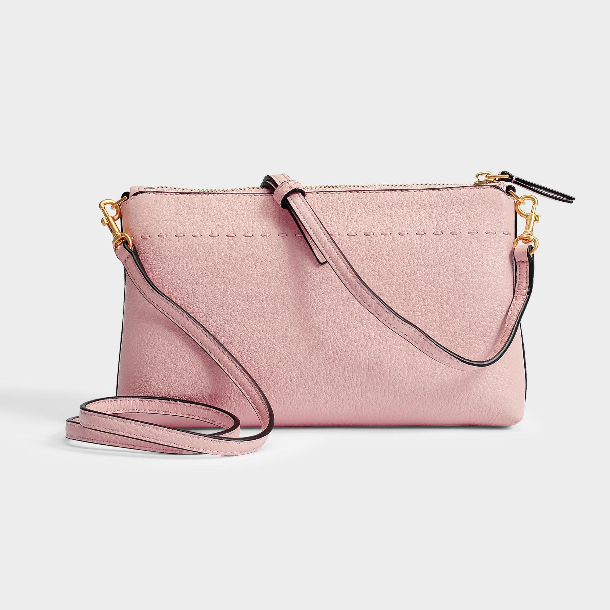 6ceac99de Tory Burch Mcgraw Top Zip Crossbody Bag in Pink - Lyst