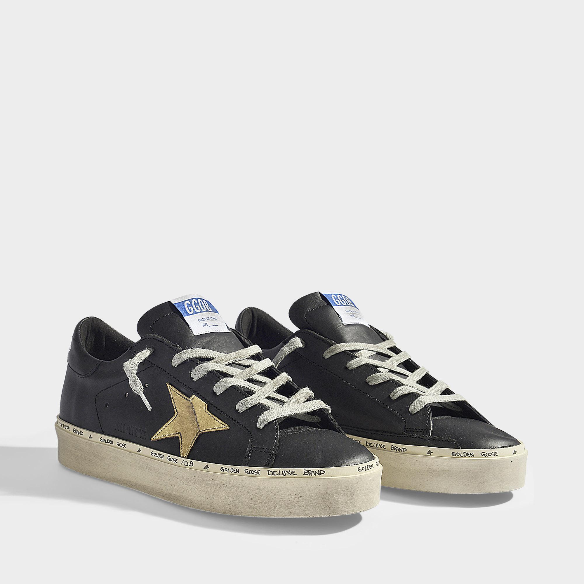 Lyst Golden And Deluxe Black Goose Brand Sneakers Hi Star Gold In HHArxqwd