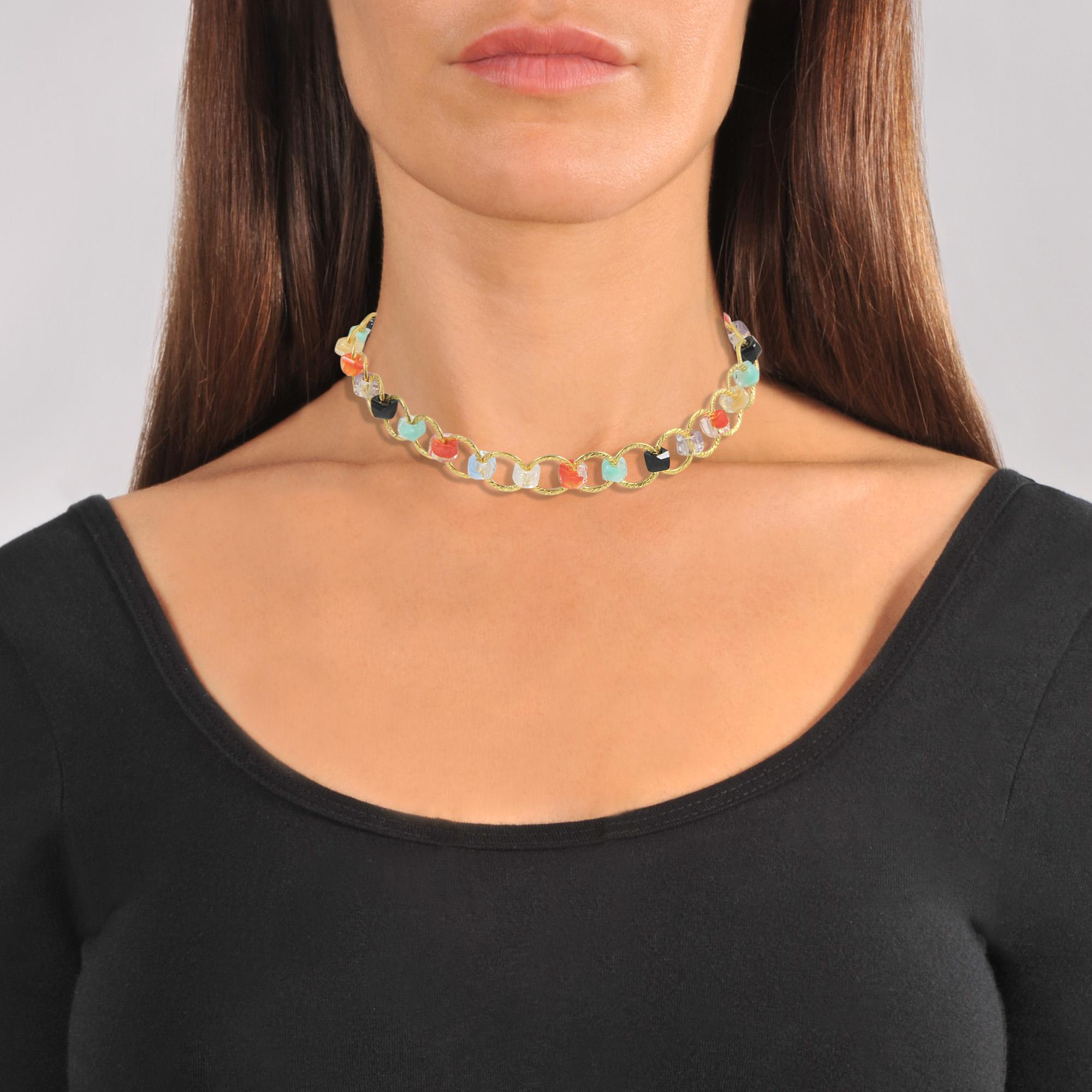 Choker (multicolour without coral) Aris Geldis