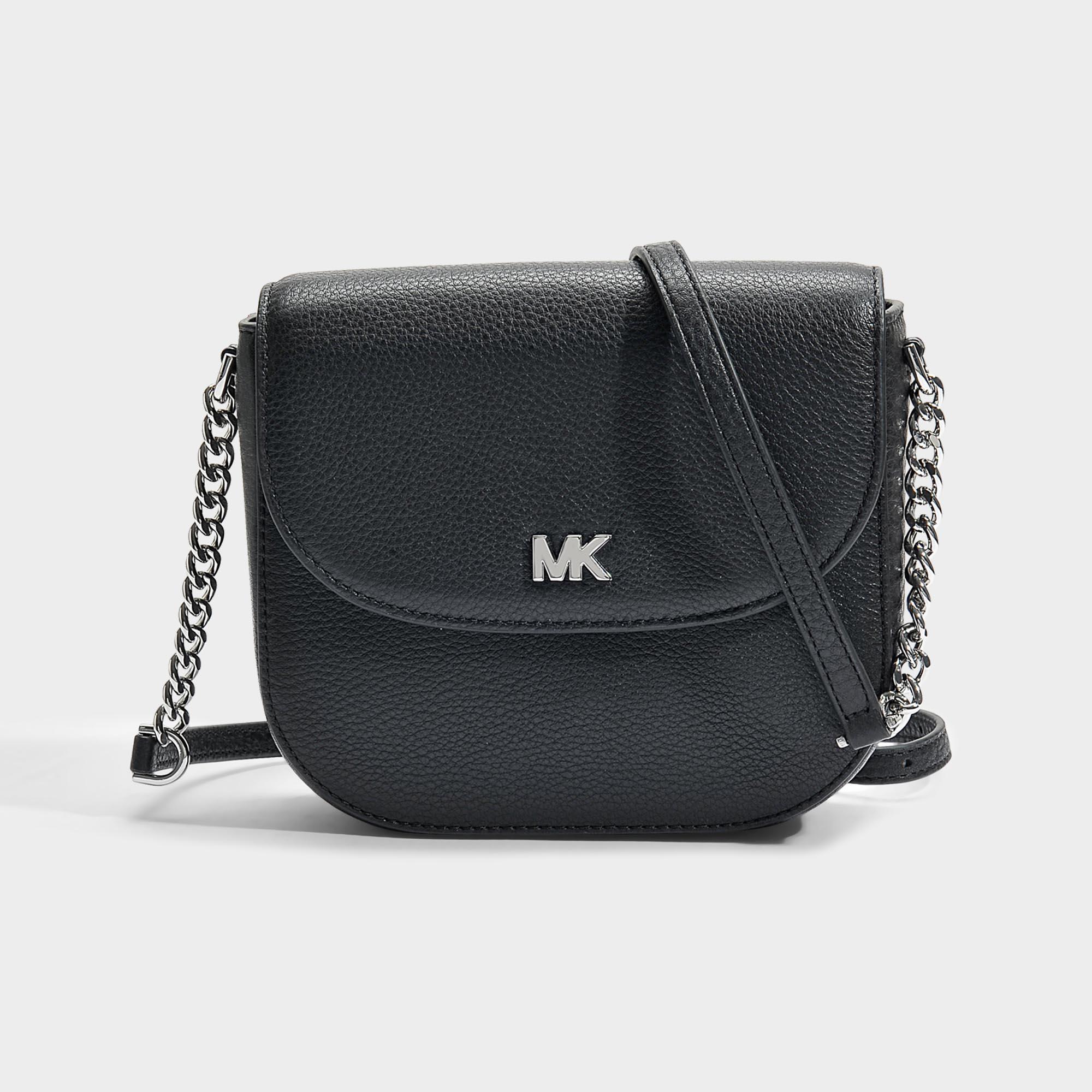 211b7897e4ea MICHAEL Michael Kors Half Dome Crossbody Bag In Black Small Pebble ...