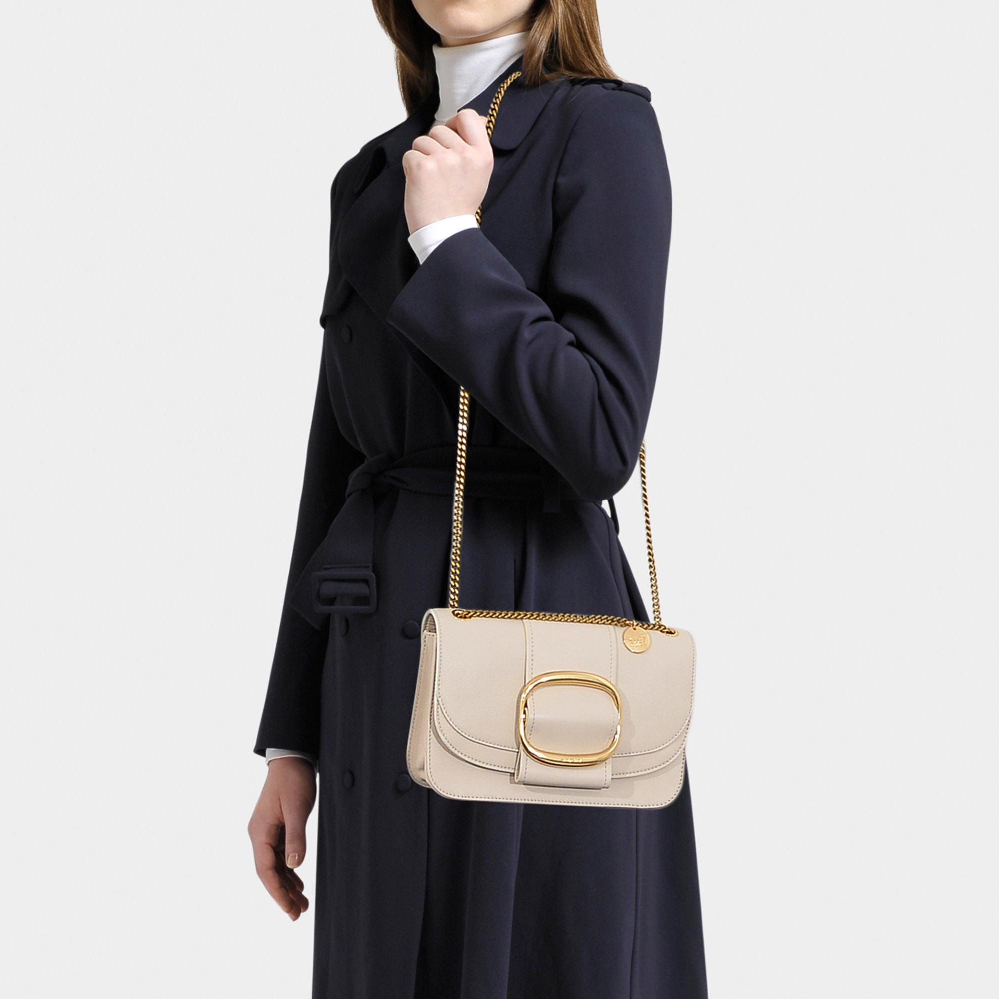 c9b49e6af9fa ... Hopper Crossbody Bag In Cement Beige Grained Leather - Lyst. View  fullscreen
