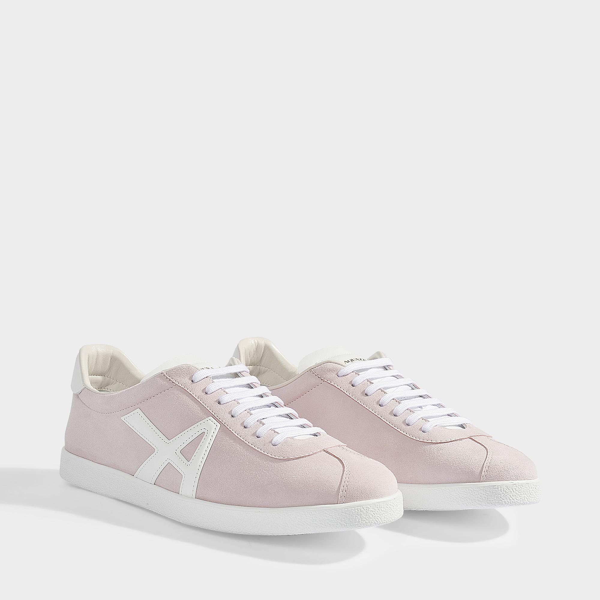 Aquazzura Und Rosa Weißem Wildleder A Sneakers The Aus Sneaker OuXZkiP