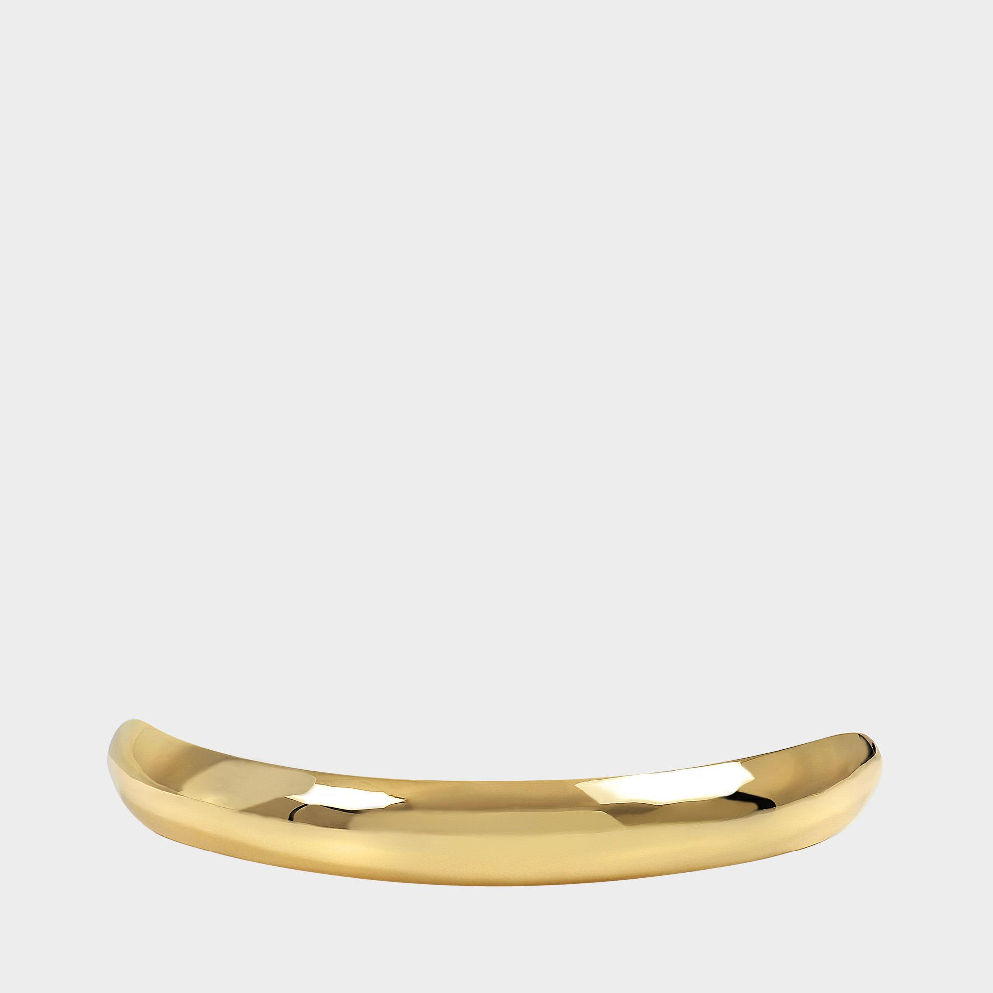 Charlotte Chesnais Shell Hair Clip in Yellow Vermeil Brass FOr1PeVK7y