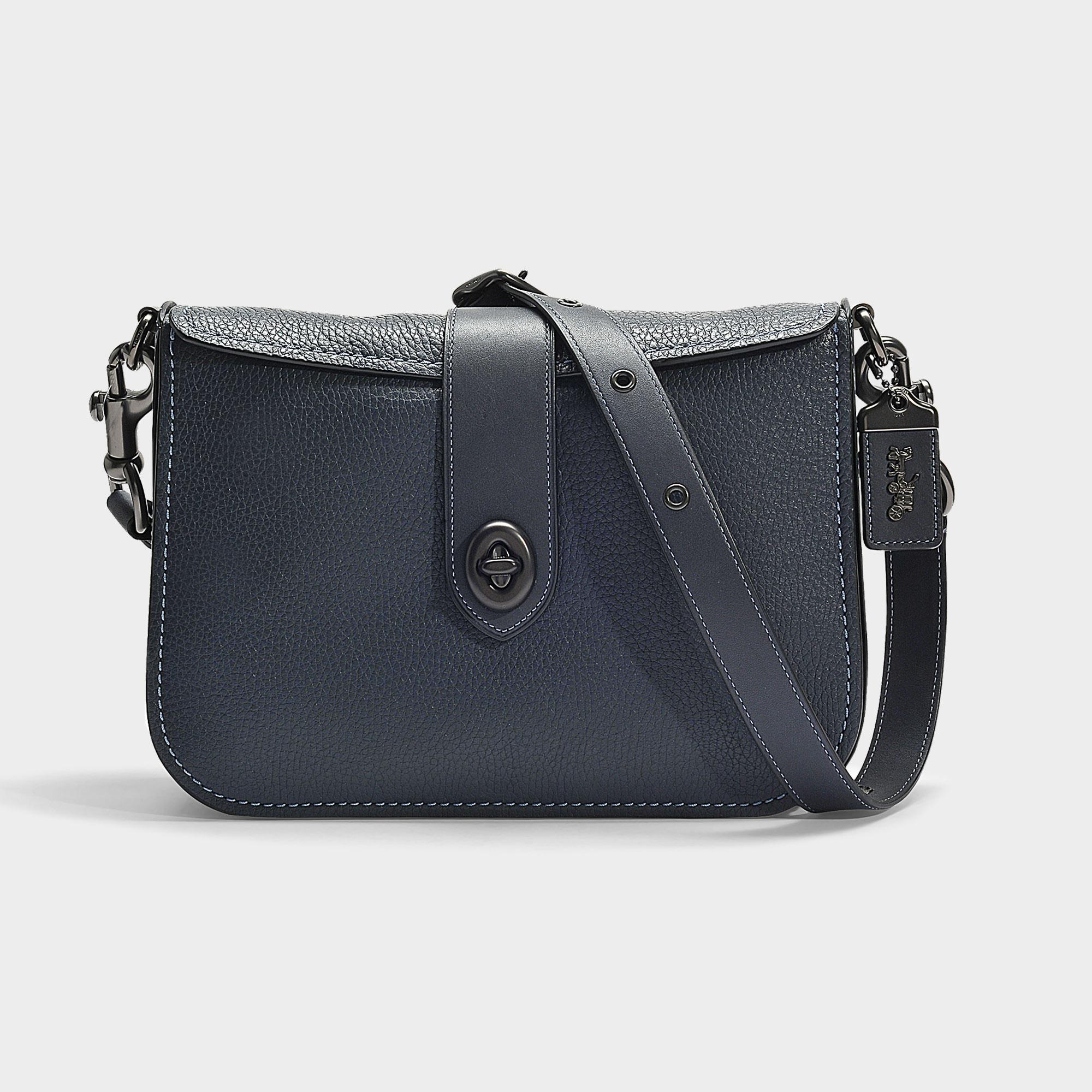 08f9d7cfe602 COACH Page 27 Crossbody Bag In Navy Blue Calfskin in Blue - Lyst