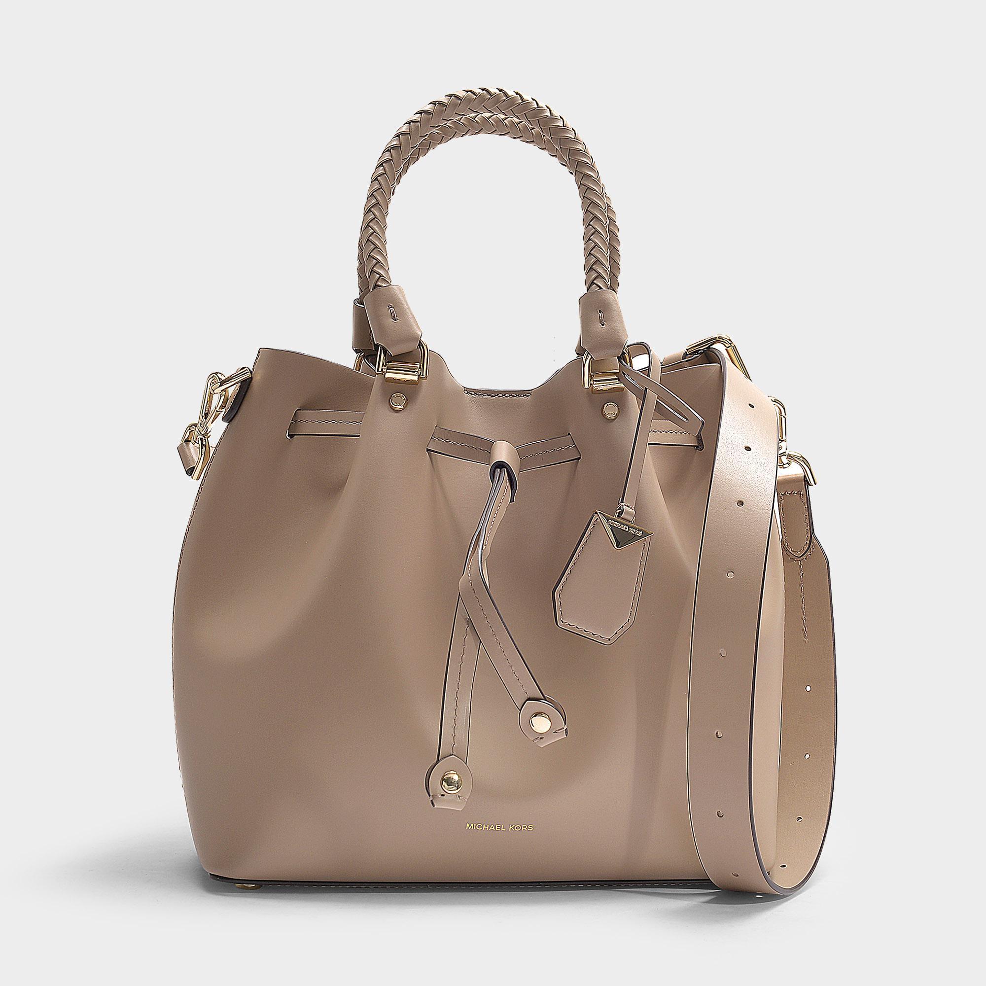 b8484a840d1 MICHAEL Michael Kors. Women s Natural Blakely Medium Bucket Bag ...