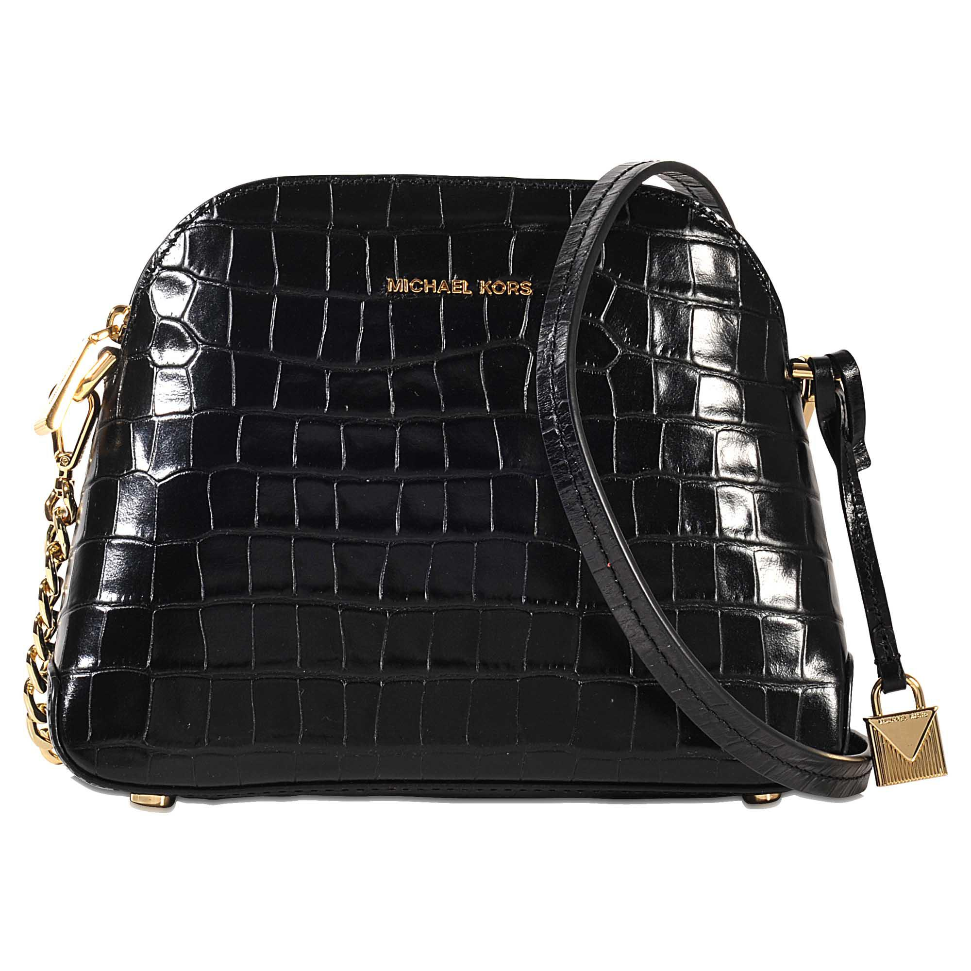 f94e099b3e91 Lyst - MICHAEL Michael Kors Mercer Md Dome Messenger in Black