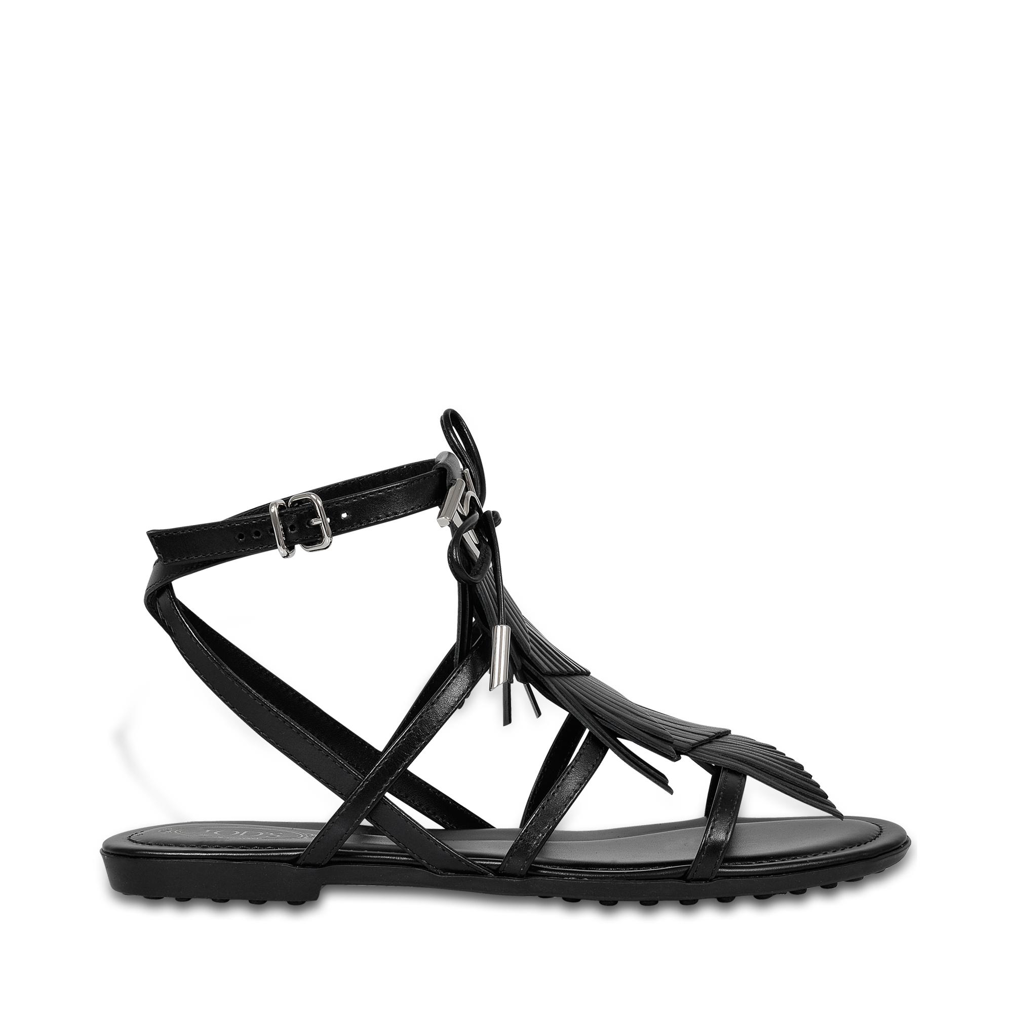 Rubber sole sandals with fringe Tod's LDYSt5