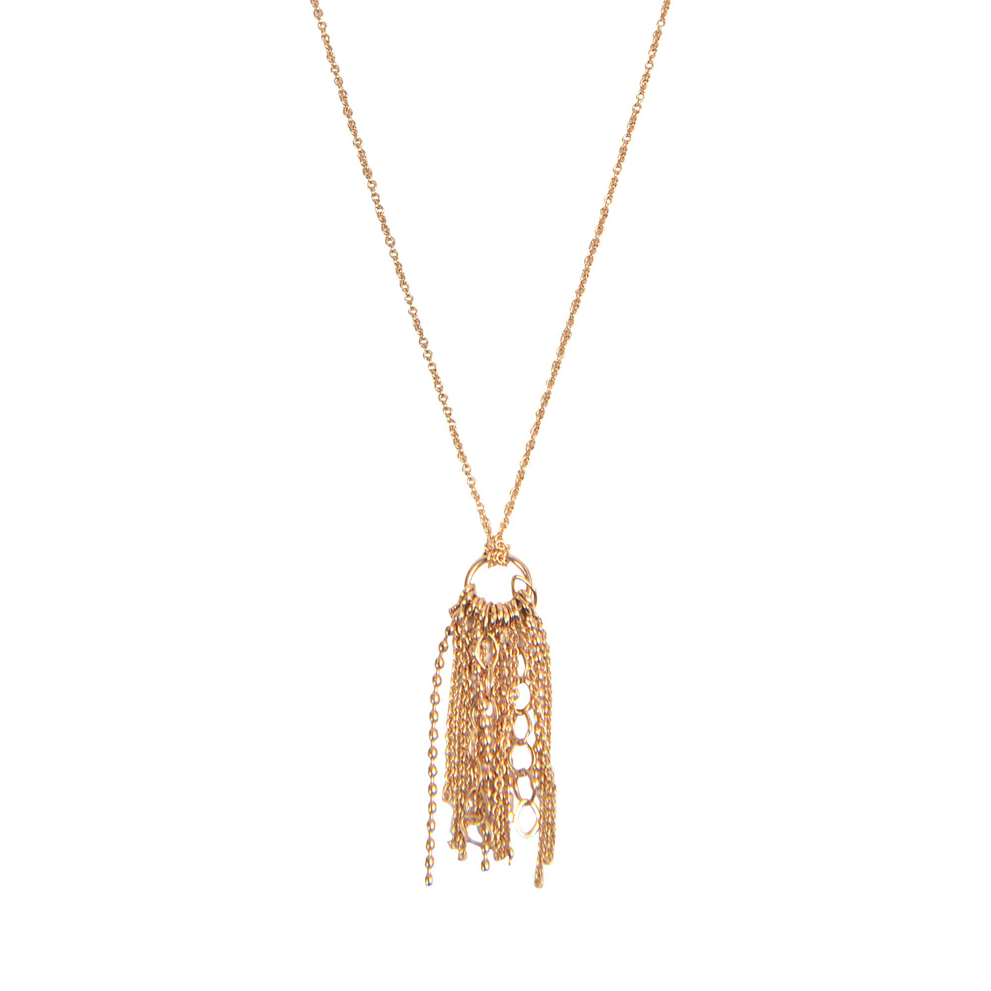 Long Unchained 18-karat rose gold necklace Ginette NY Ym8lga