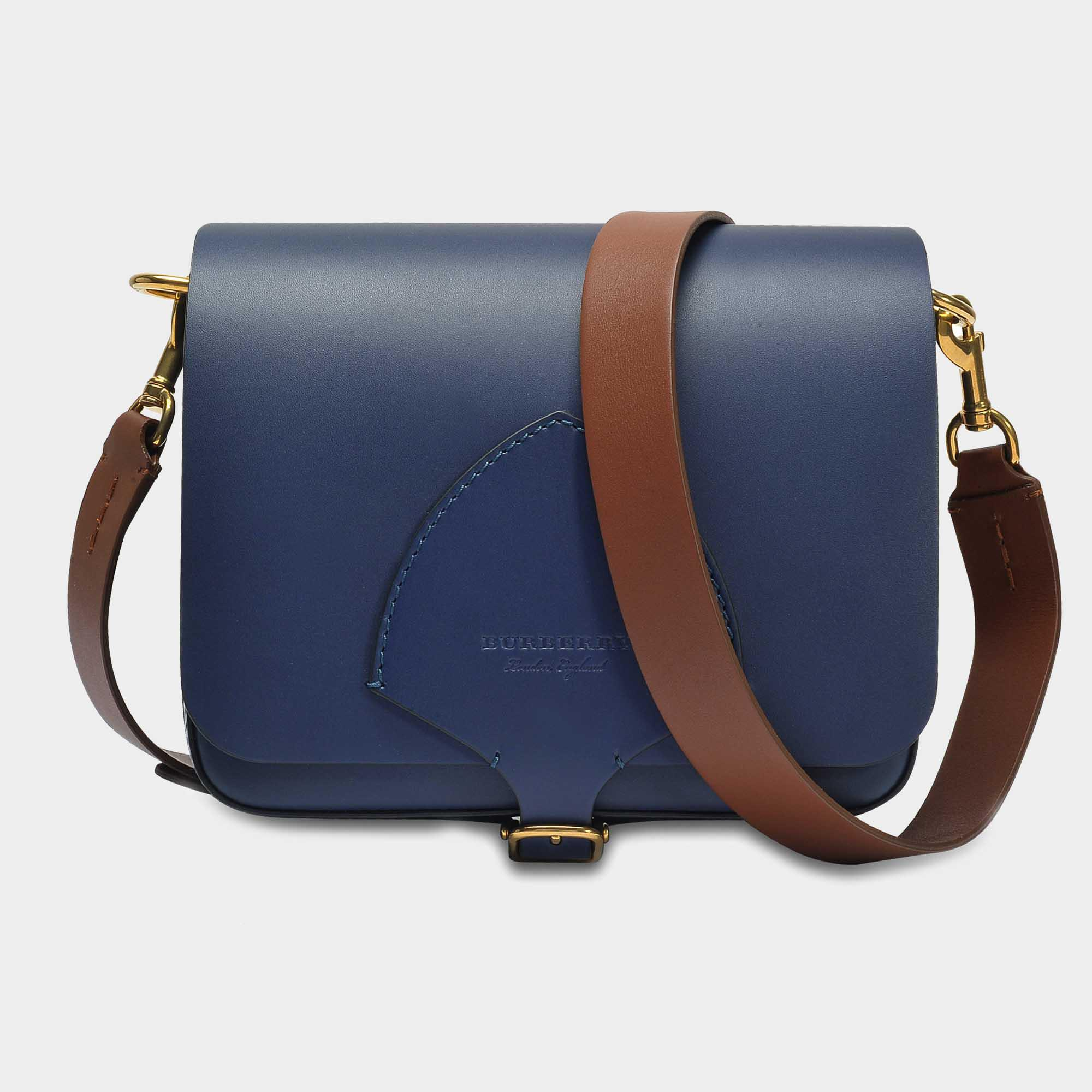 Good Selling Amazon Sale Online The Square Satchel Bag in Mid Indigo Soft Leather Burberry Clearance Store Sale Online Cheap Browse MVekhBt2d