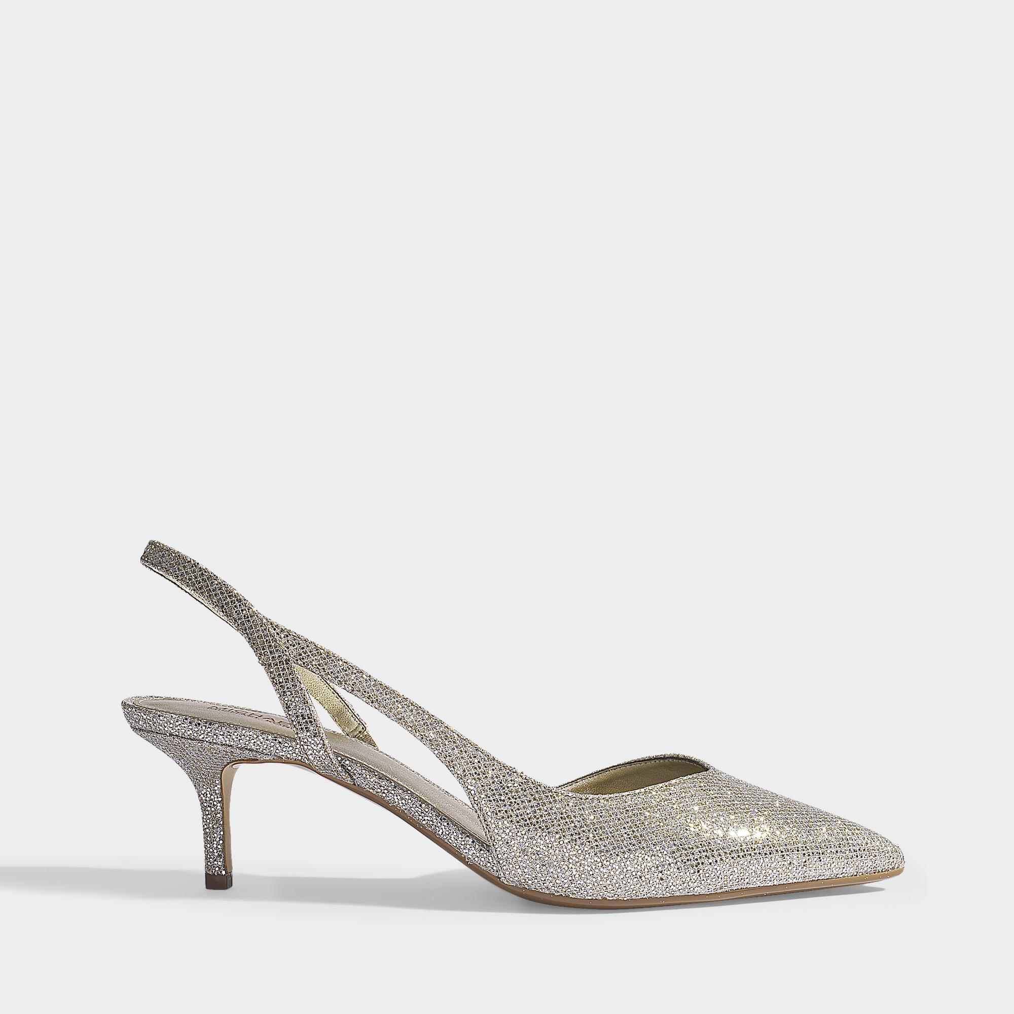 804d7dc2f4d Lyst - MICHAEL Michael Kors Eliza Kitten Pumps In Champagne Glitter ...