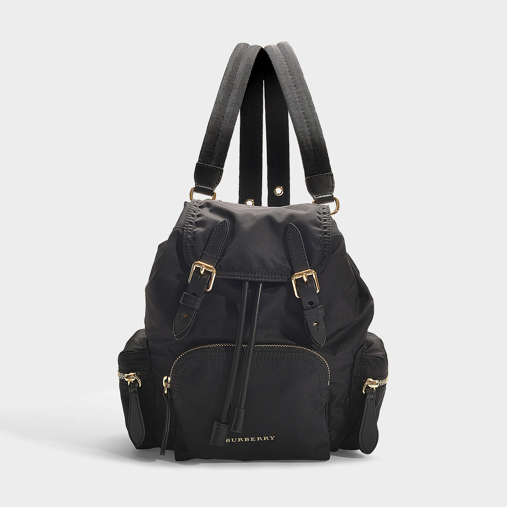 Burberry - The Rucksack Small Backpack In Black Nylon - Lyst. View  fullscreen 372a57973cb94