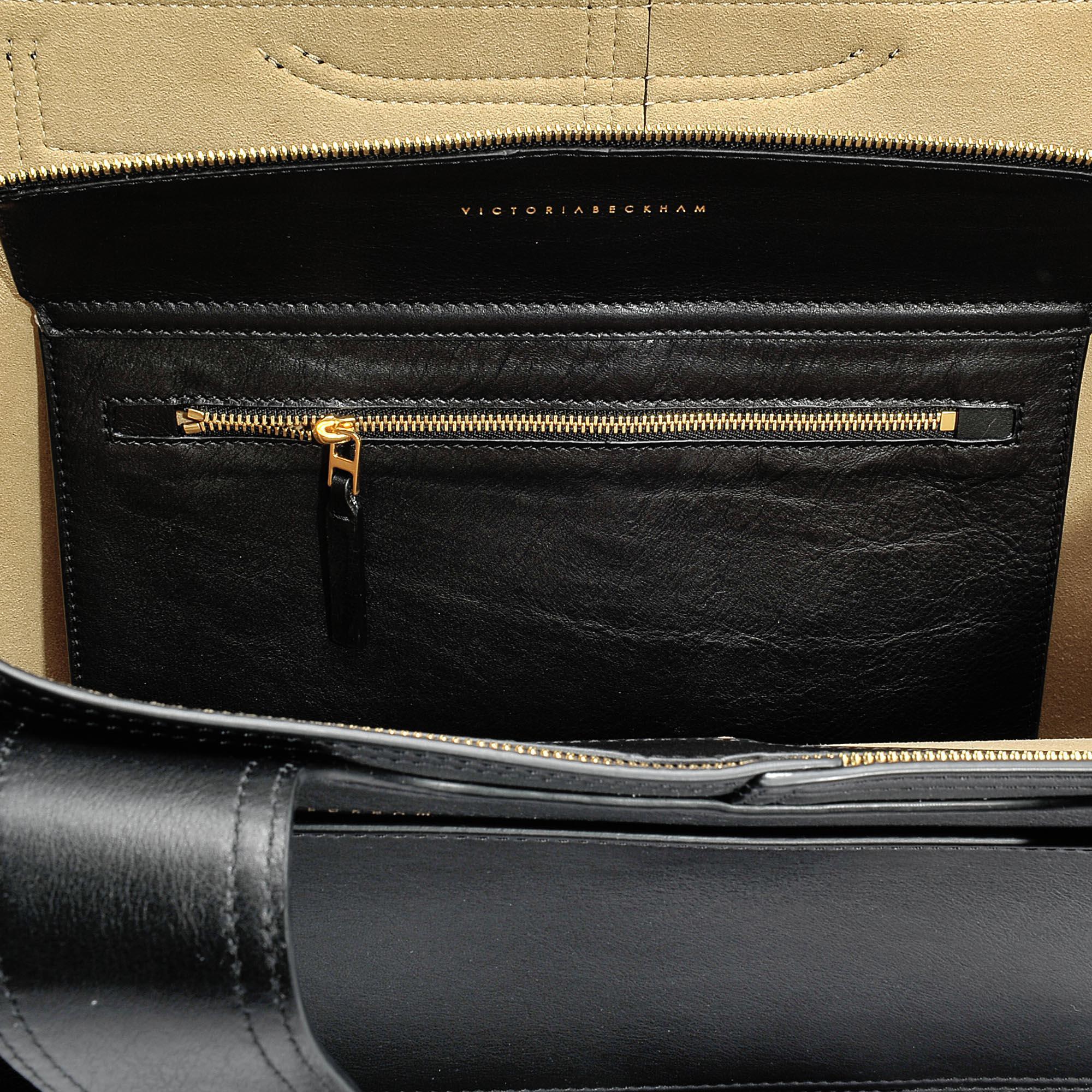 Victoria Beckham Apron Tote Bag in Black Celtic Calfskin fUATNN0