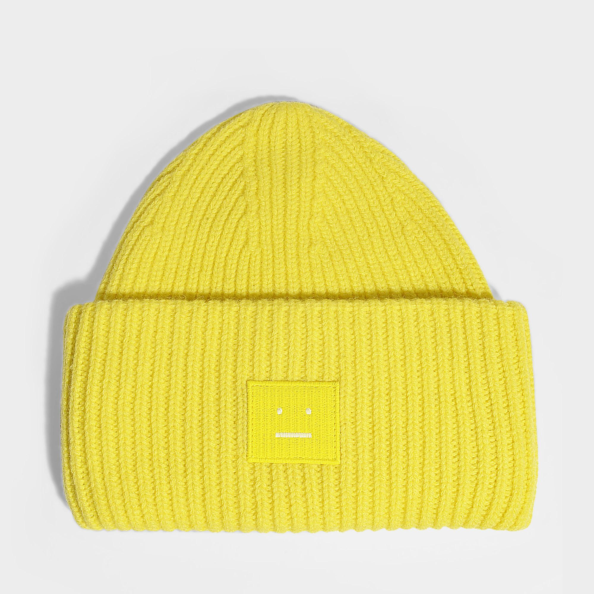 428b4190033 Lyst - Acne Studios Mütze Pansy N Face aus gelber Wolle in Gelb