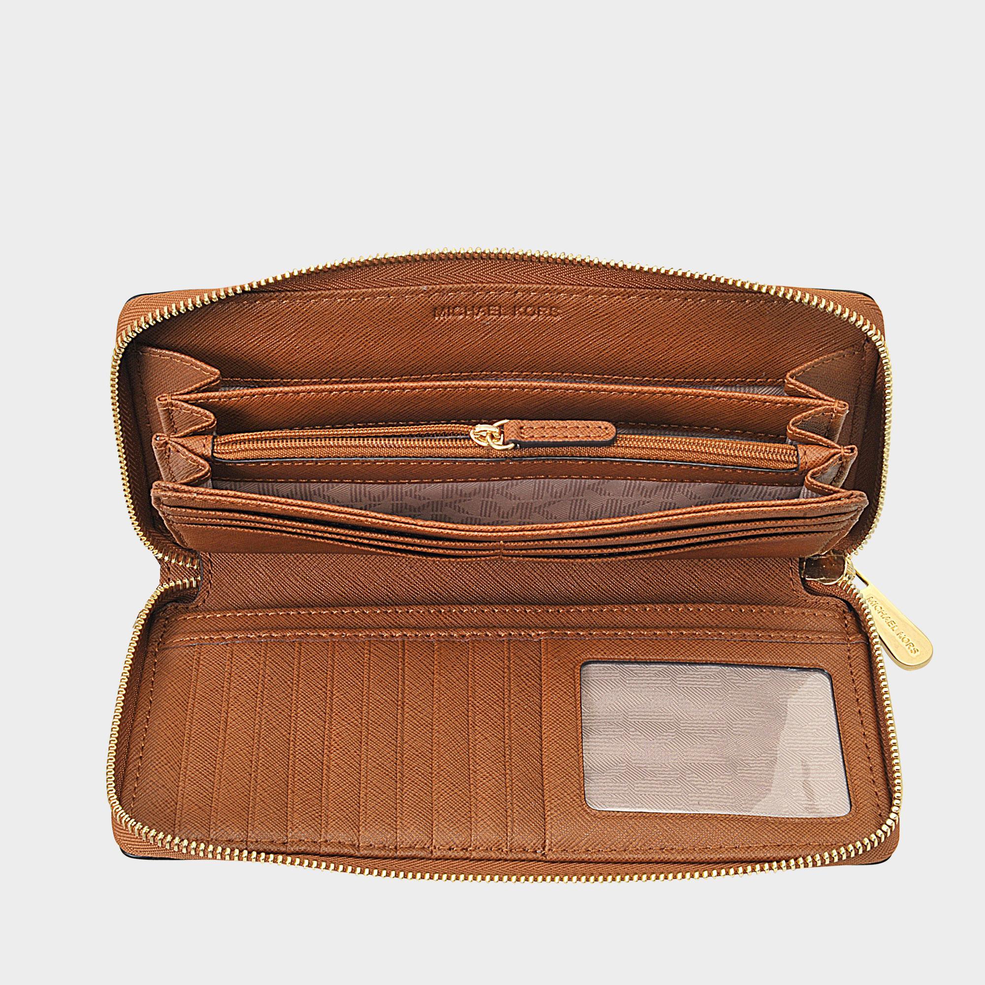 4299b8f9e2e22 MICHAEL Michael Kors Jet Set Travel Continental Wallet in Brown - Lyst