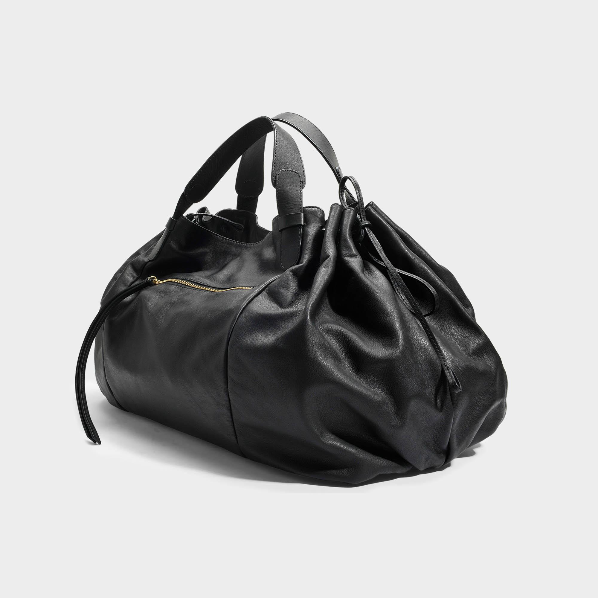 Maxi GD Bag in Black Calfskin Gerard Darel DlIuzE9cPn