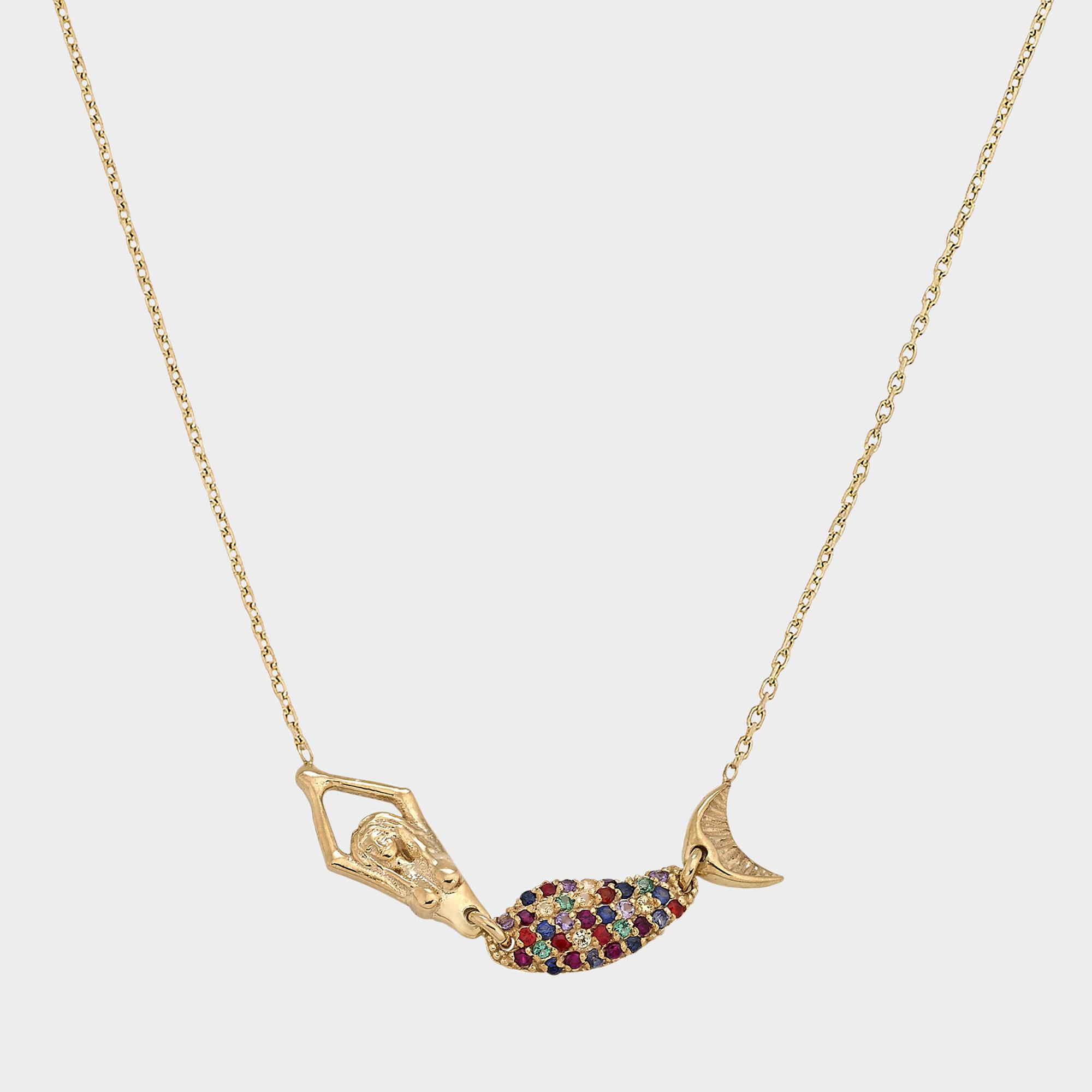 Anton Heunis Heart and Star Eternity Necklace in 14K Gold and Diamonds biQZchw