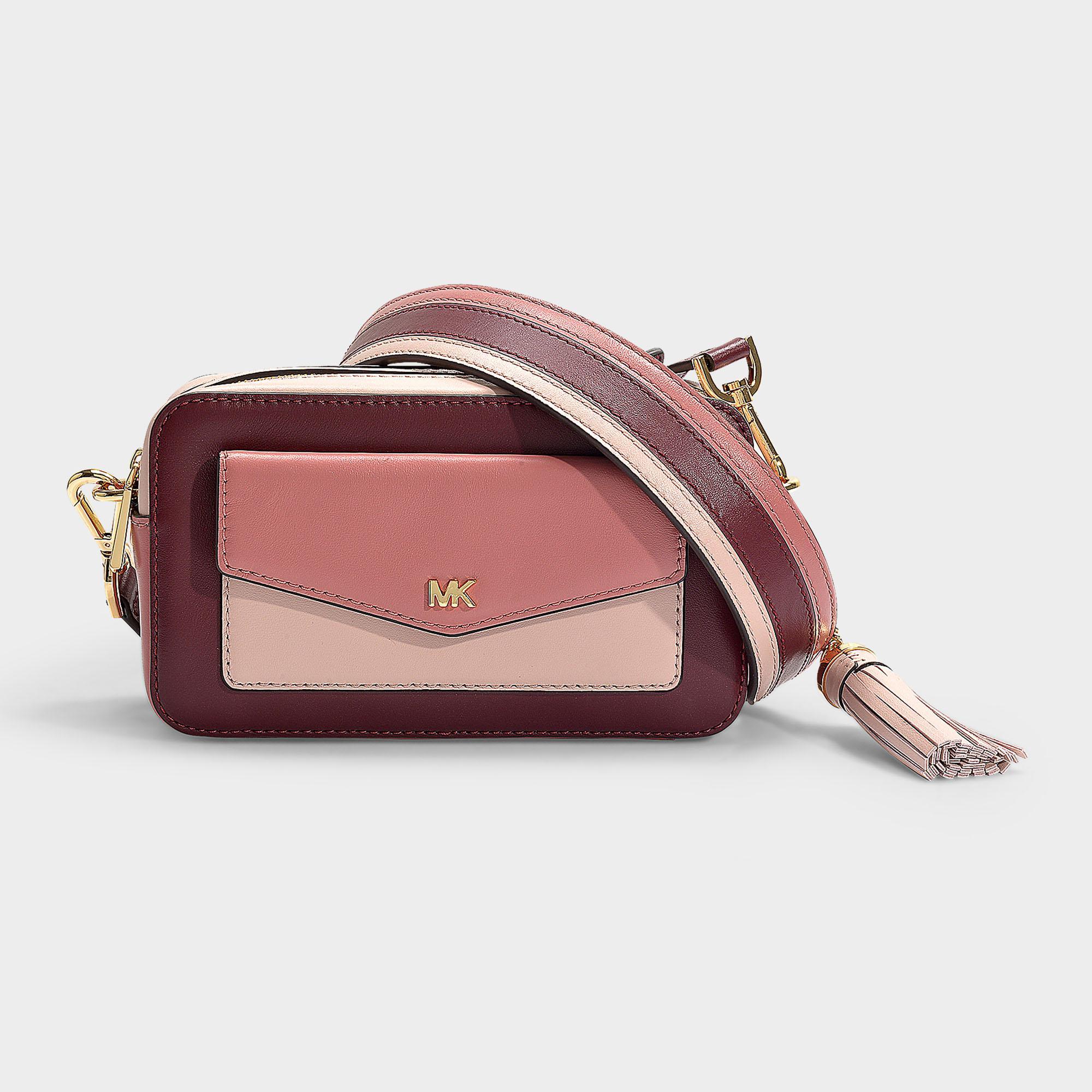 234563d77e15 Lyst - MICHAEL Michael Kors Pocket Camera Bag in Pink - Save 19%