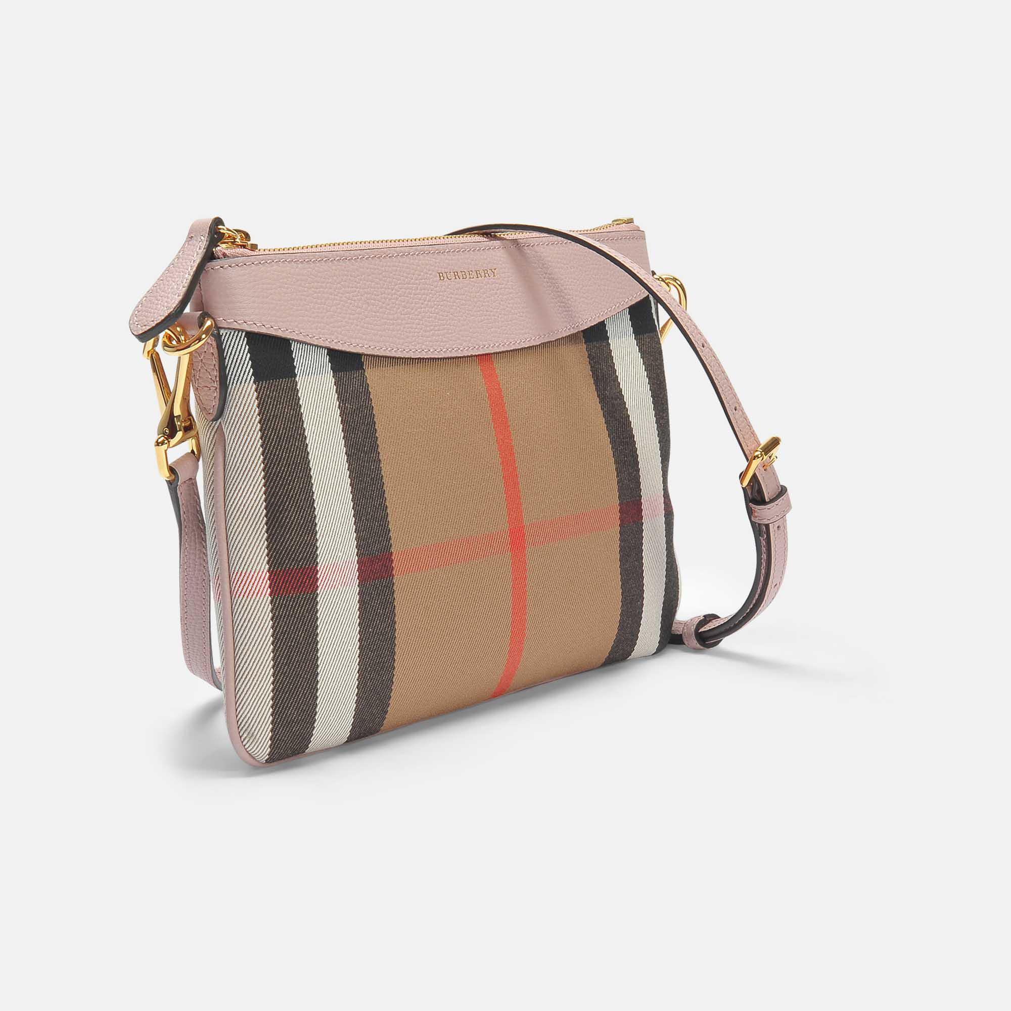 8f3f37491b5a Lyst - Burberry Peyton Pouch Bag In Pale Orchid Grained Calfskin