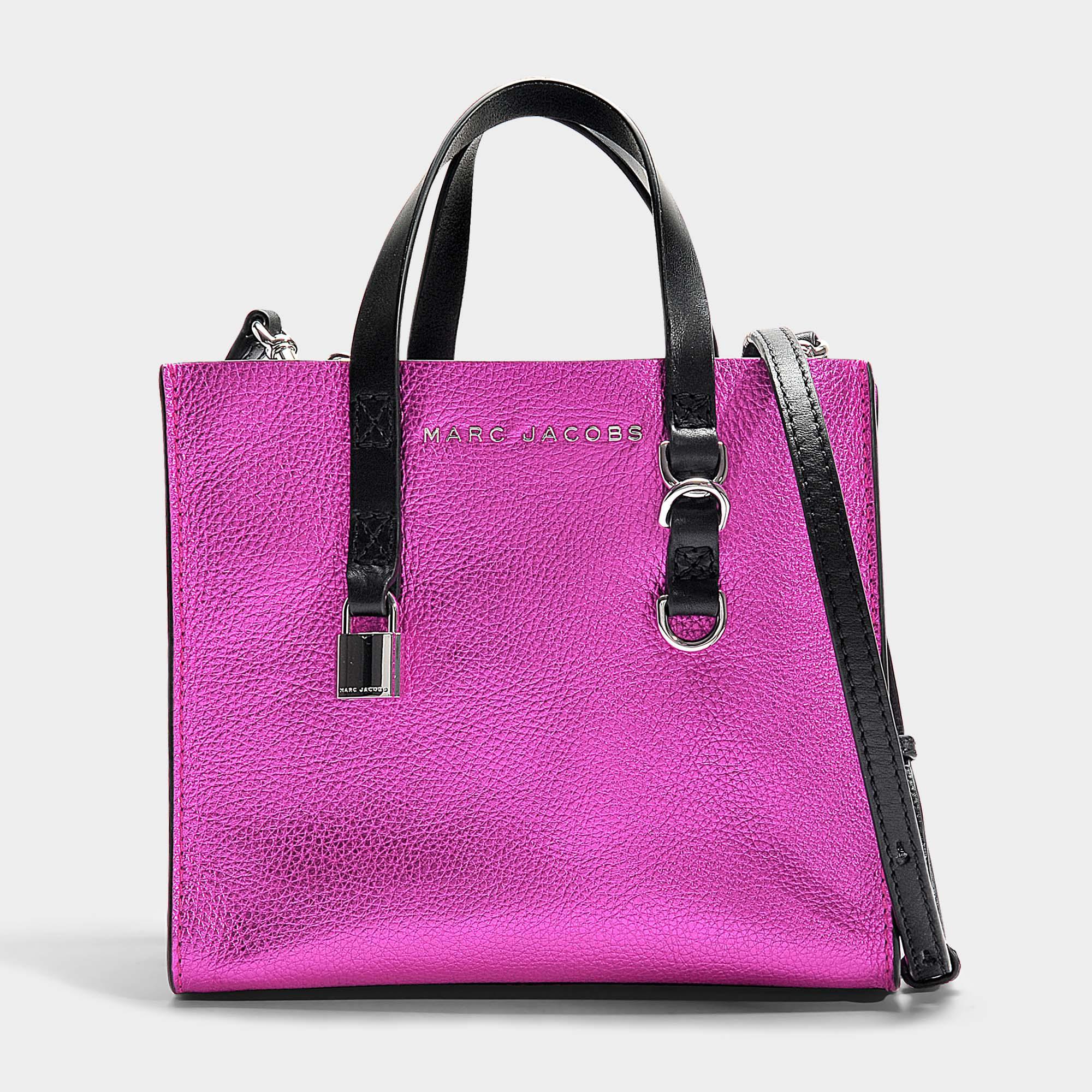 e84f0b259309 Marc Jacobs - The Mini Grind Metallic Bag In Pink Metallic Calfskin - Lyst.  View fullscreen