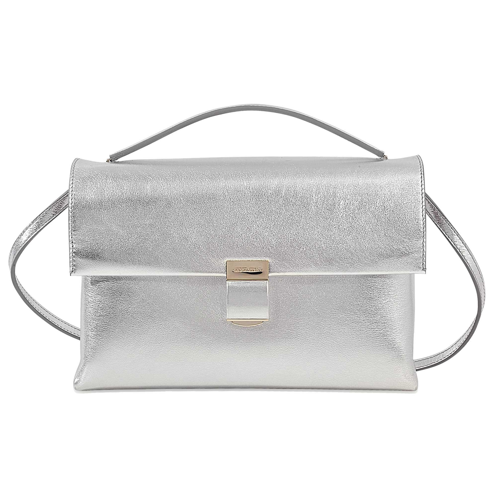 Lyst - Giorgio Armani Silver Hinge Bag e14491feaaeb9