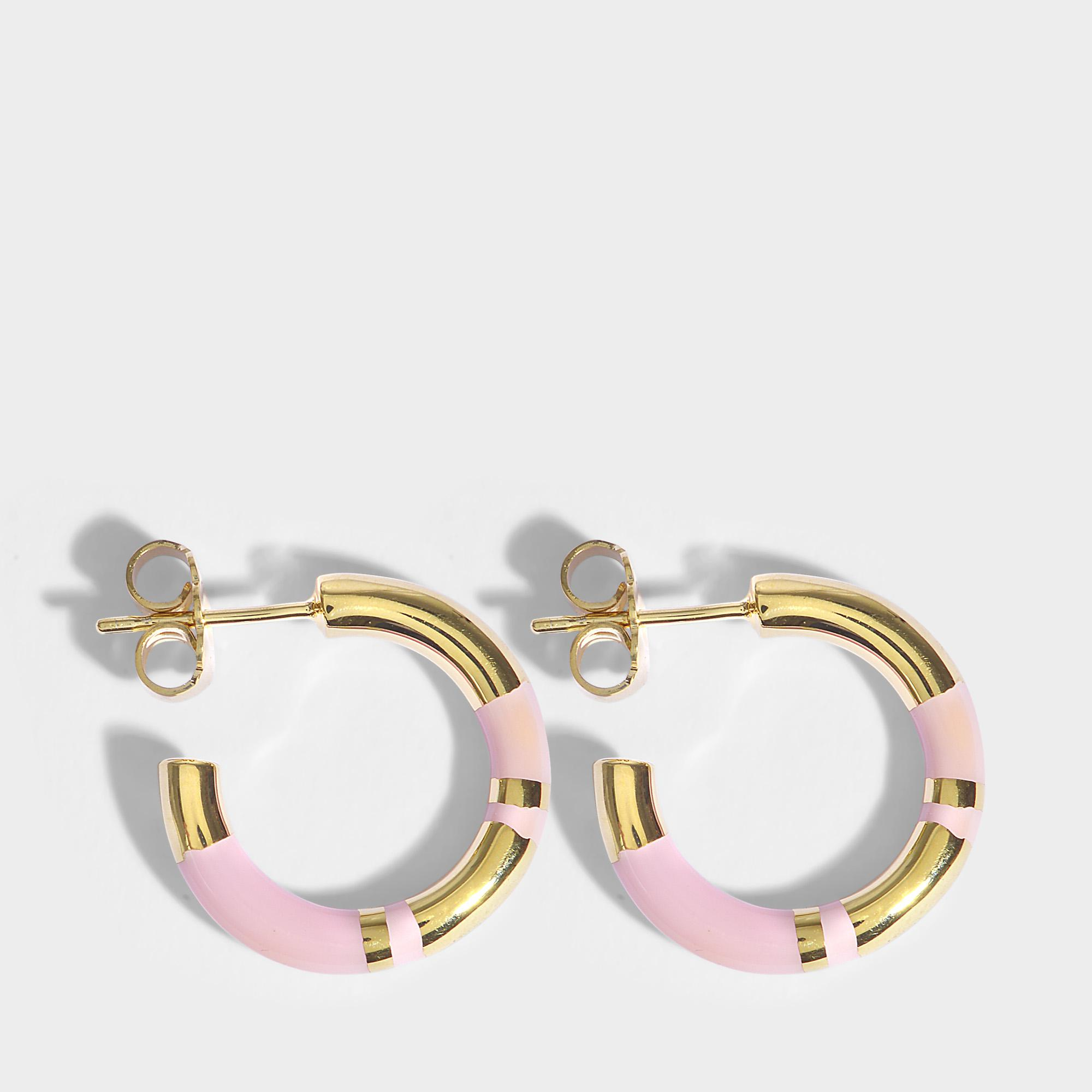 Aurélie Bidermann Positano Bracelet in Baby Pink 18K Gold-Plated Brass