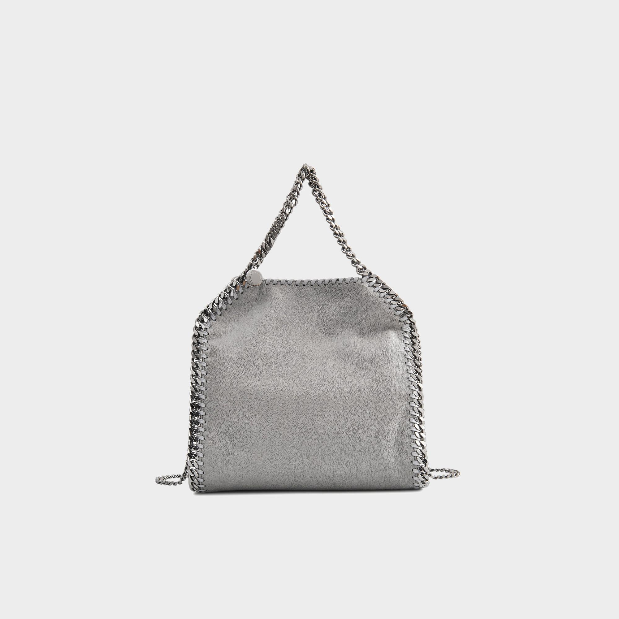 Stella McCartney. Women s Gray Mini Tote Shaggy Deer Falabella In Light ... f2eaf7bb84df9