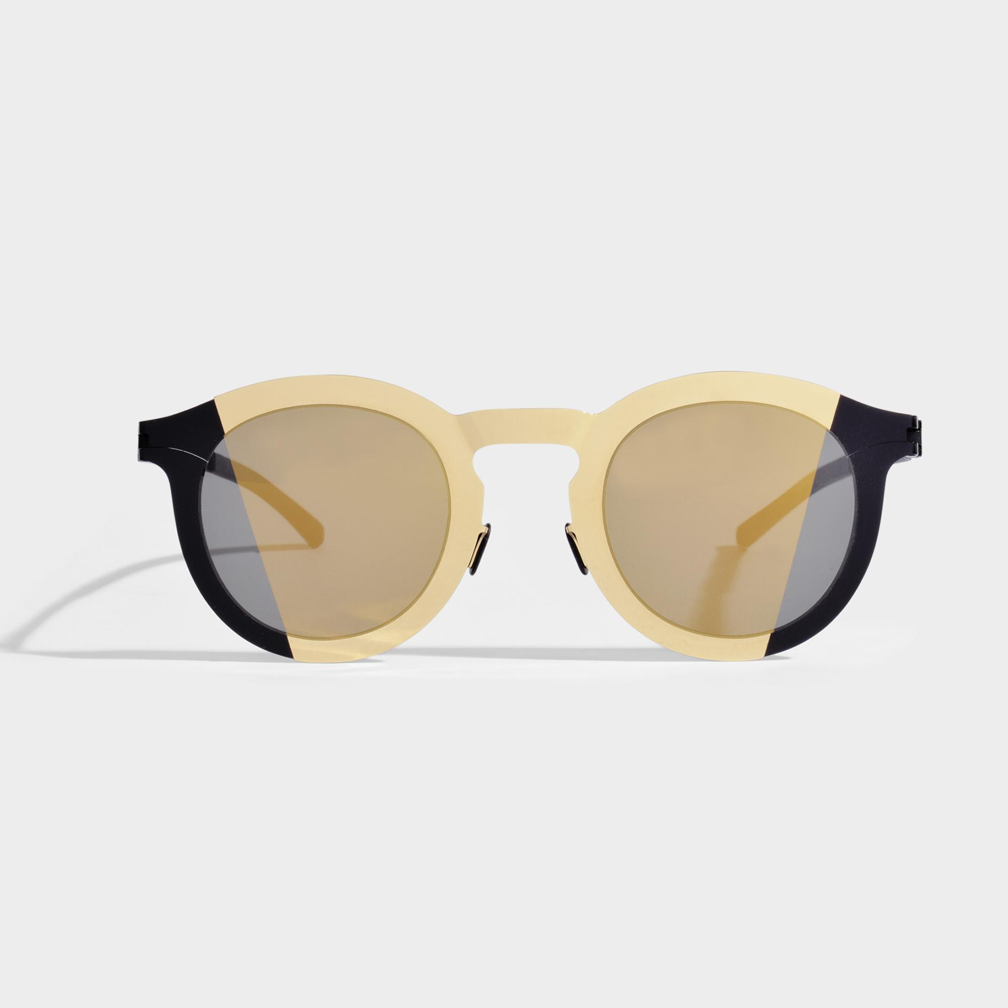 Mykita Studio 2.2 Sunglasses in Gold Black Metal Maison Martin Margiela rpkN5iR