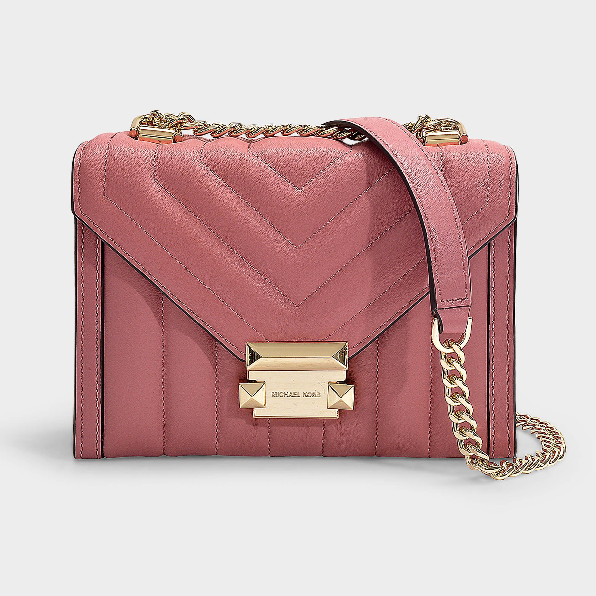 bffcbf85182c MICHAEL Michael Kors. Women's Pink Whitney Small Shoulder Bag In Rose  Quilted Lambskin