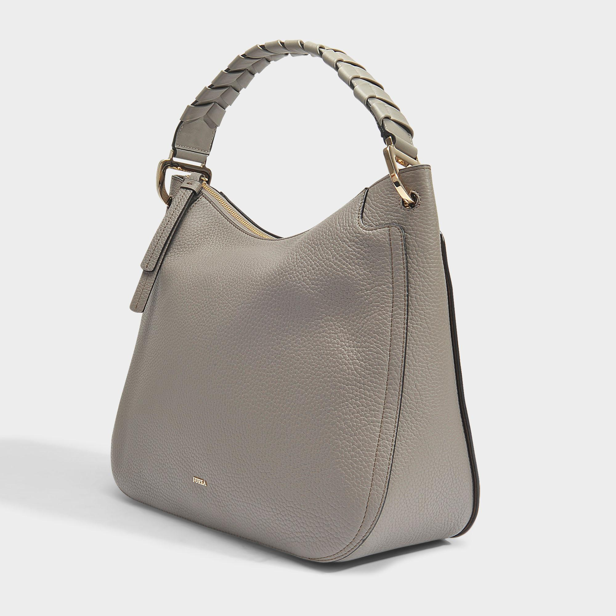 Rialto Large Hobo Bag in Sabbia Calfskin Furla HlVqN