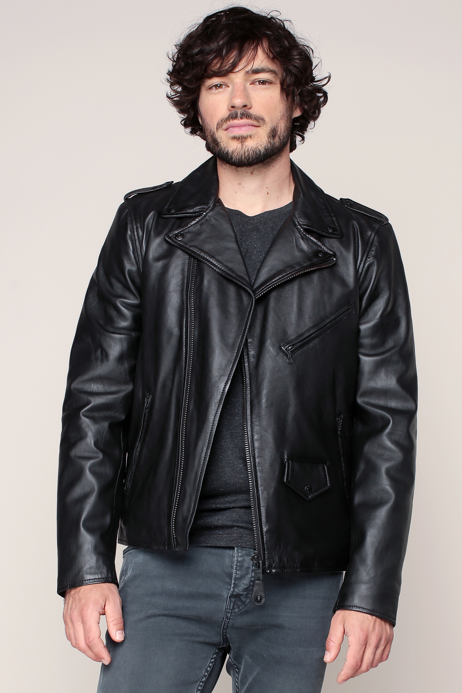 Schott nyc Leather Jackets in Black for Men | Lyst
