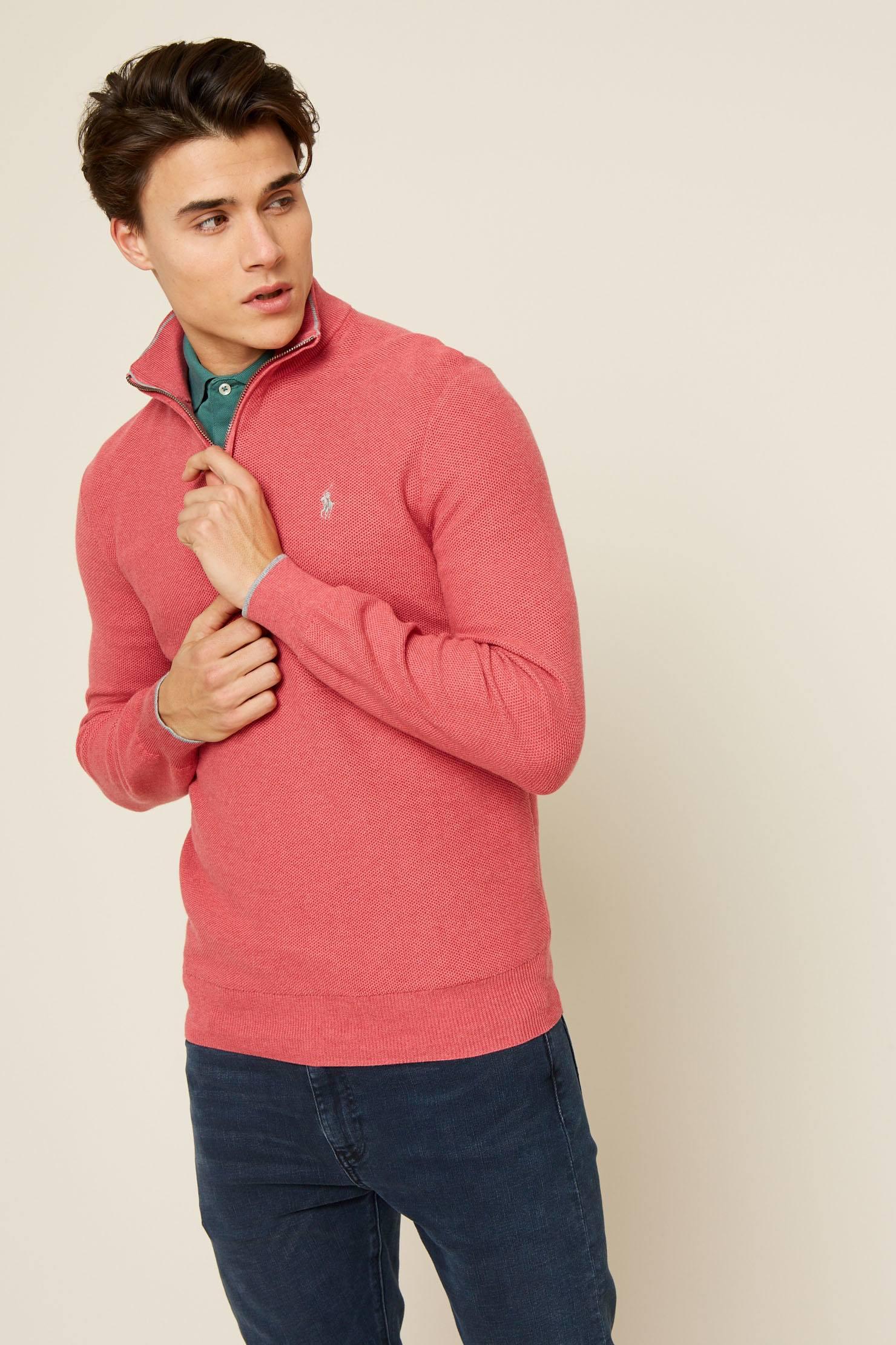 4e1612fd ... spain polo ralph lauren. mens pink sweater cardigan 150e9 5f5e3