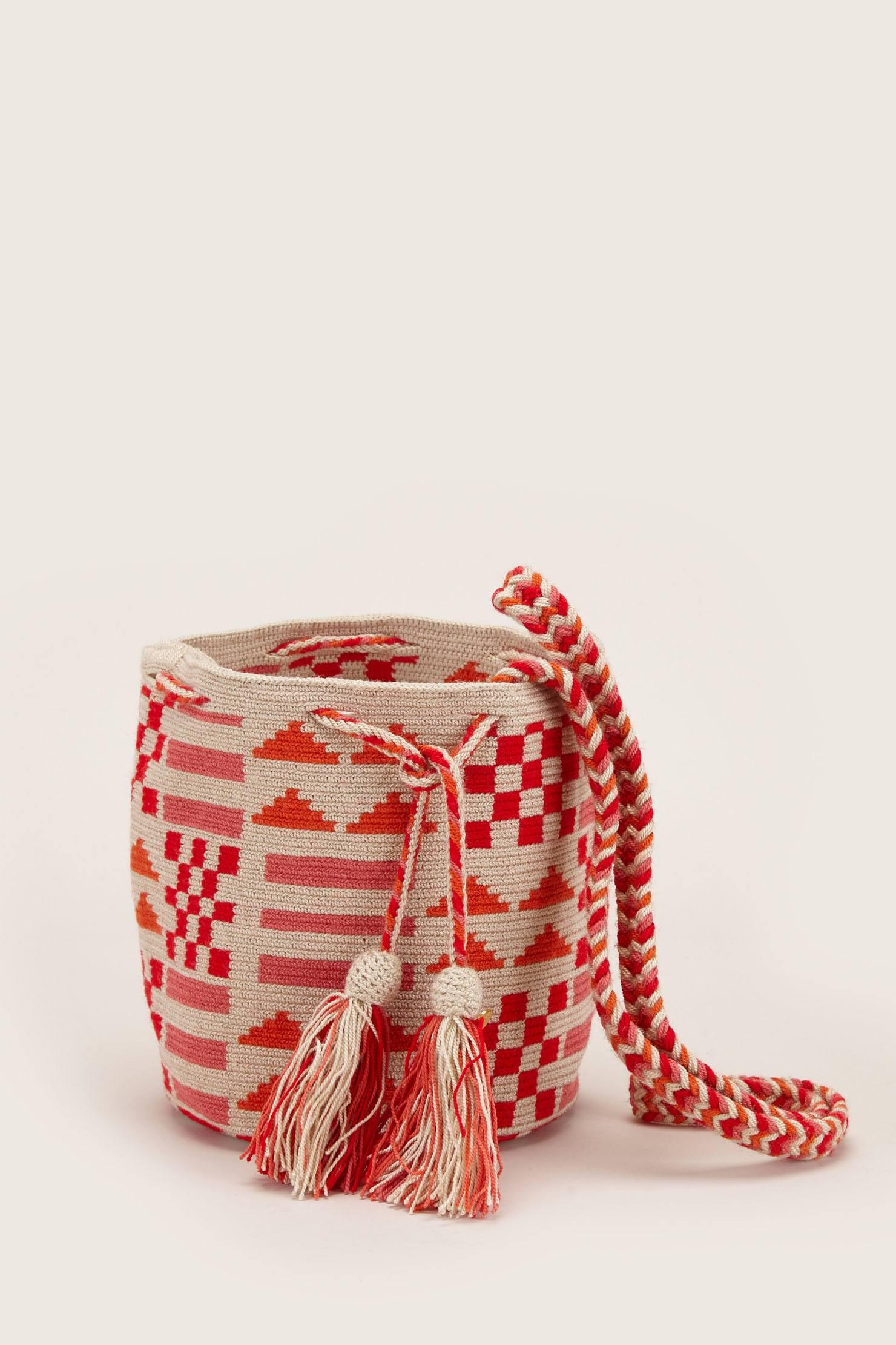 Medium Stripe Bucket Bag in Red Guanabana jHDdX0