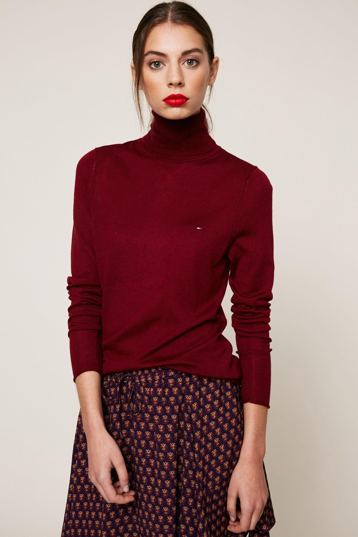 lyst hilfiger denim jumper in red. Black Bedroom Furniture Sets. Home Design Ideas