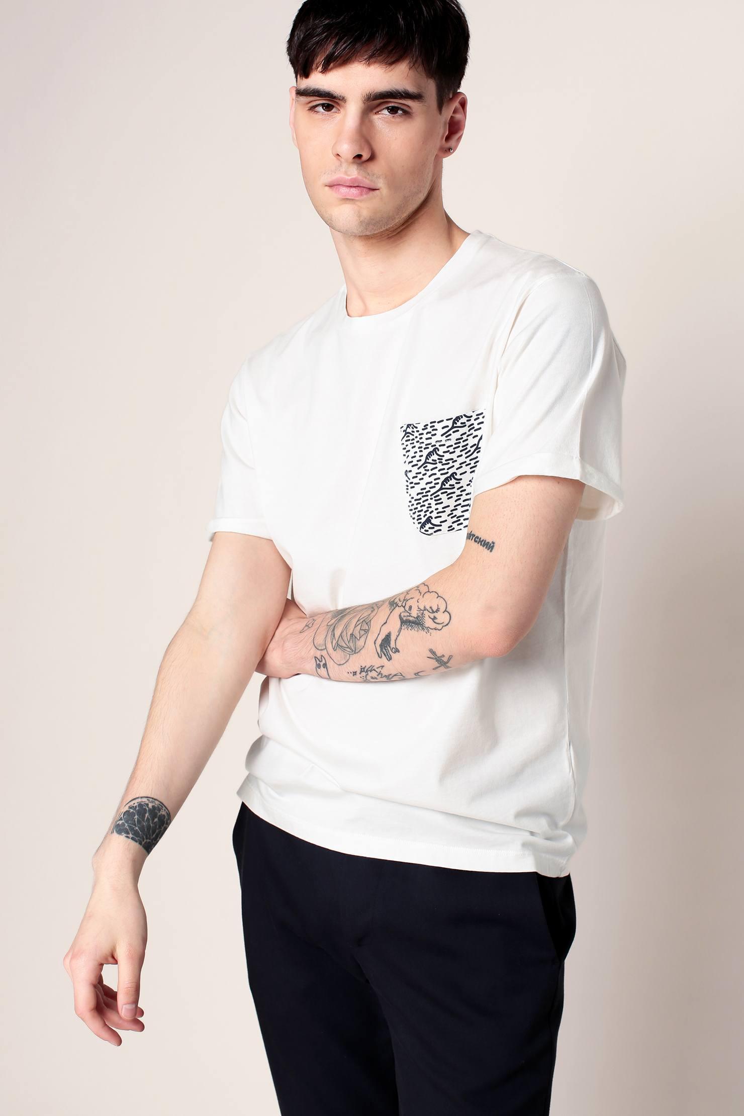 lyst cuisse de grenouille t shirt in white for men. Black Bedroom Furniture Sets. Home Design Ideas