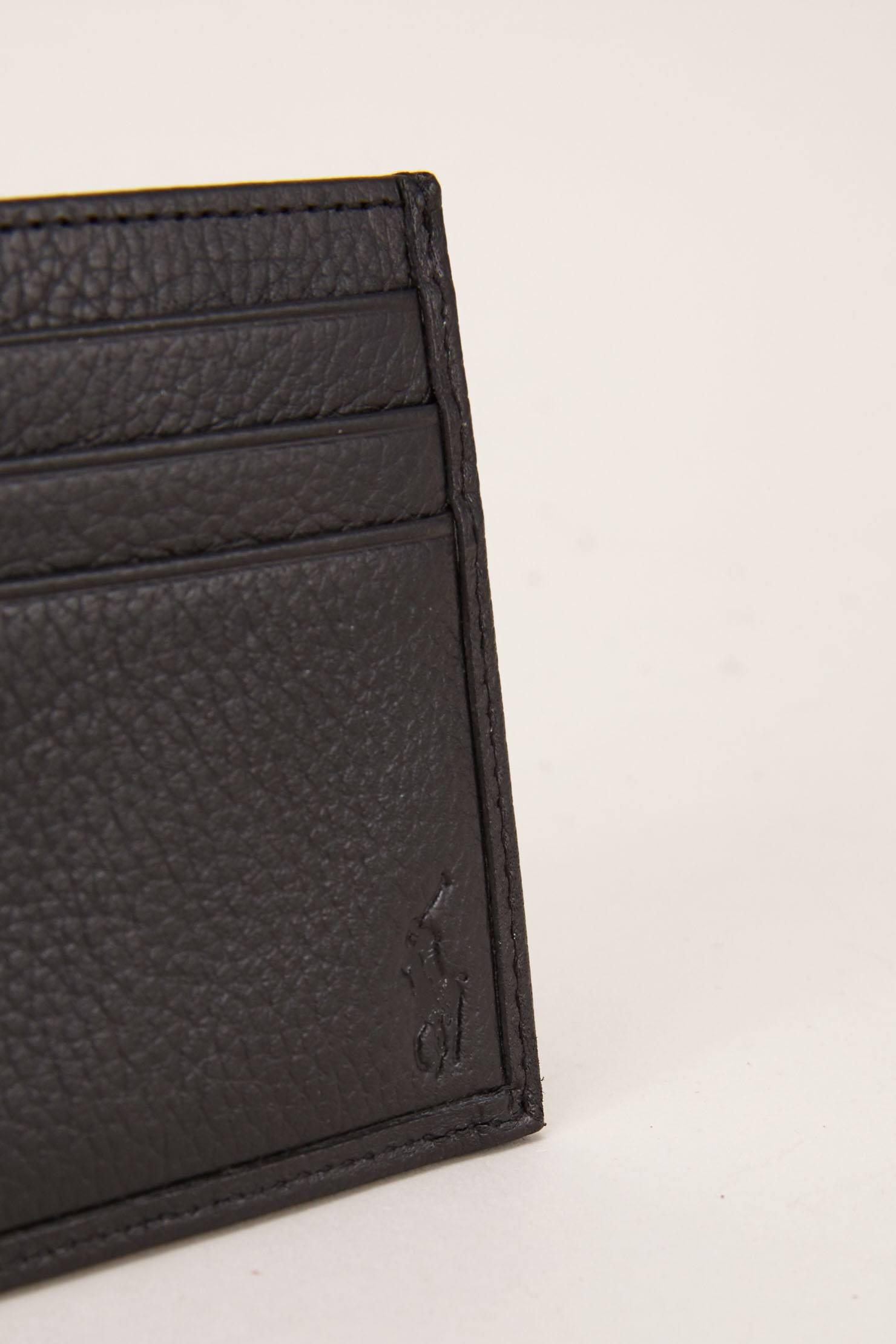 Lyst polo ralph lauren business card holder in black for men polo ralph lauren black business card holder for men lyst view fullscreen colourmoves