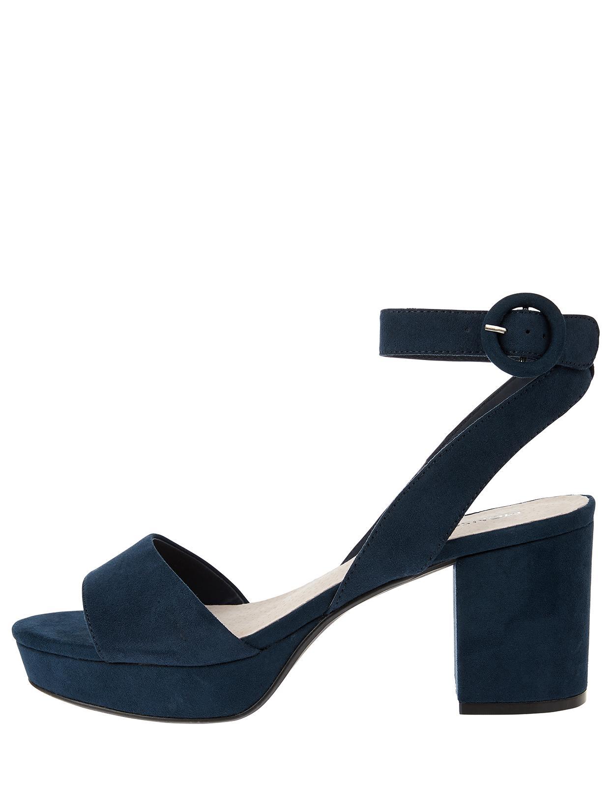 9f0902541e0 Monsoon Paige Platform Block Heel Sandals in Blue - Lyst
