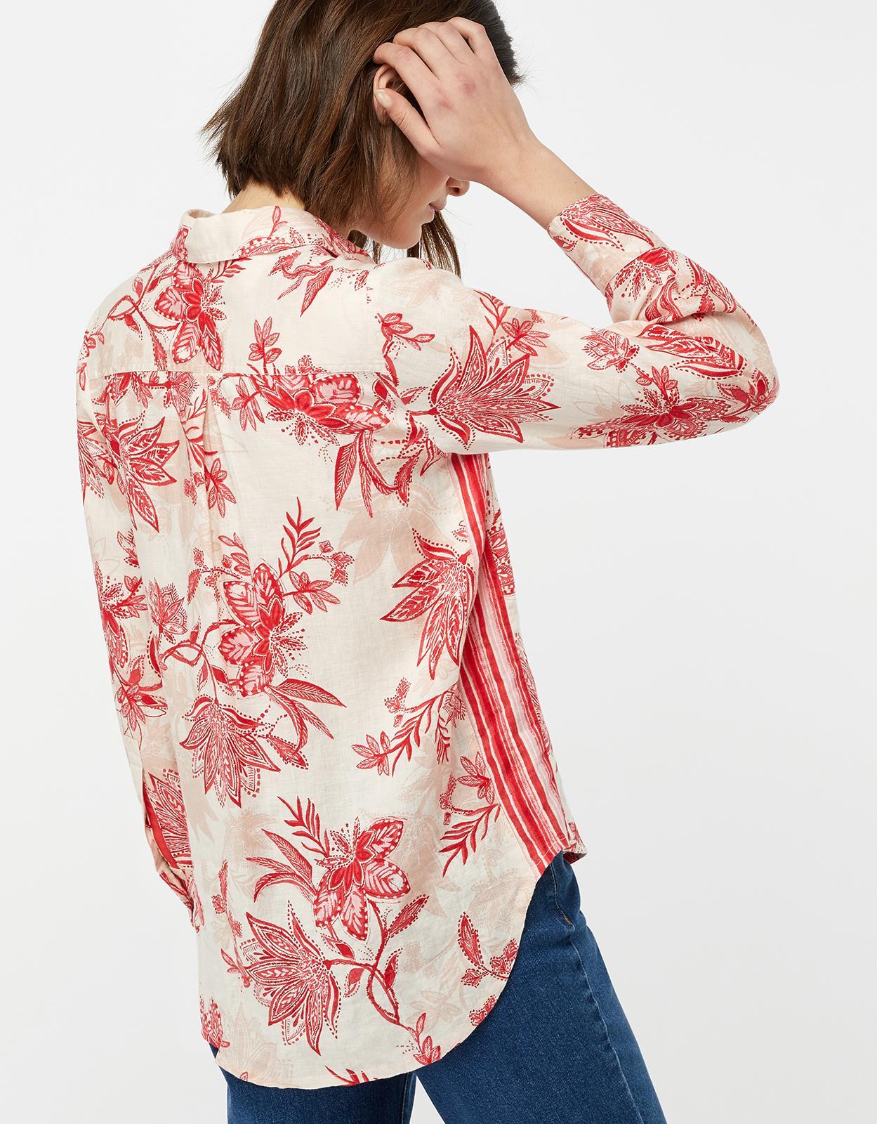 84911a088 Monsoon Alyssa Print Linen Shirt in Natural - Lyst