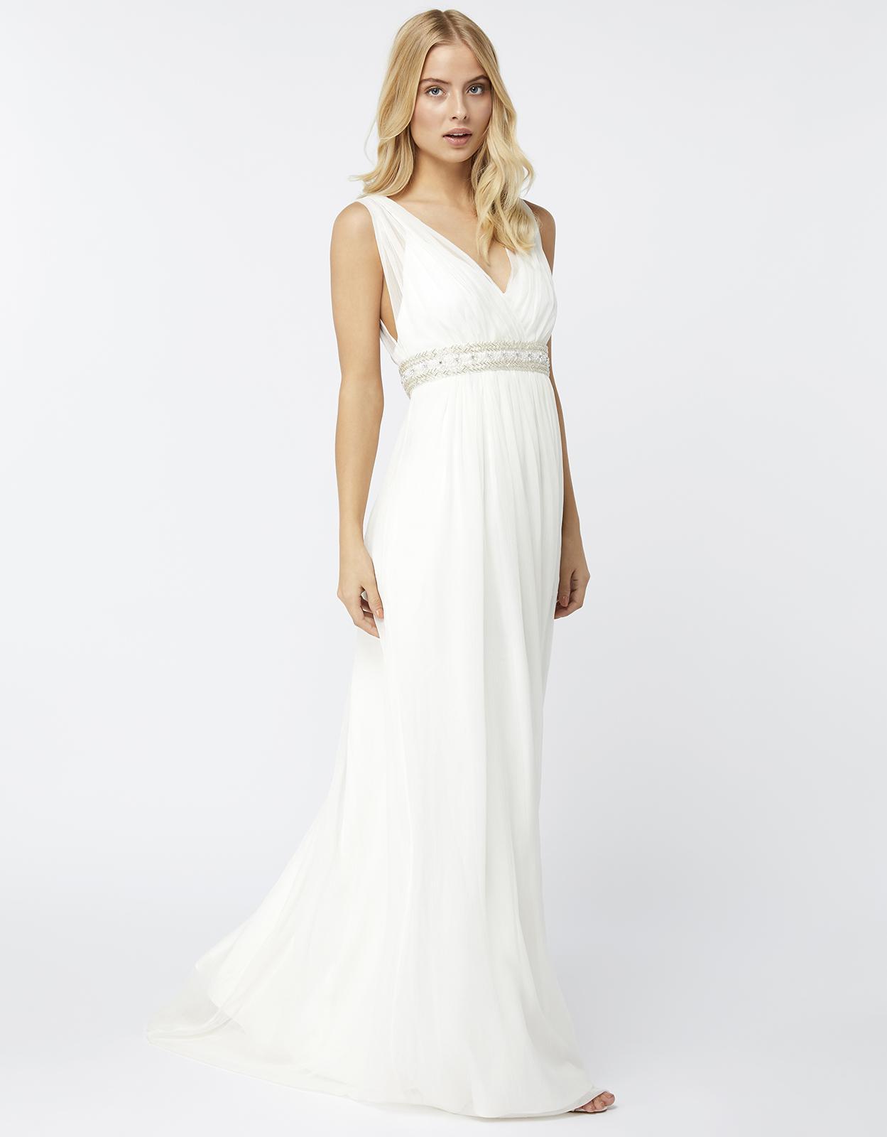 Monsoon Lottie Maxi Bridal Dress in White - Lyst