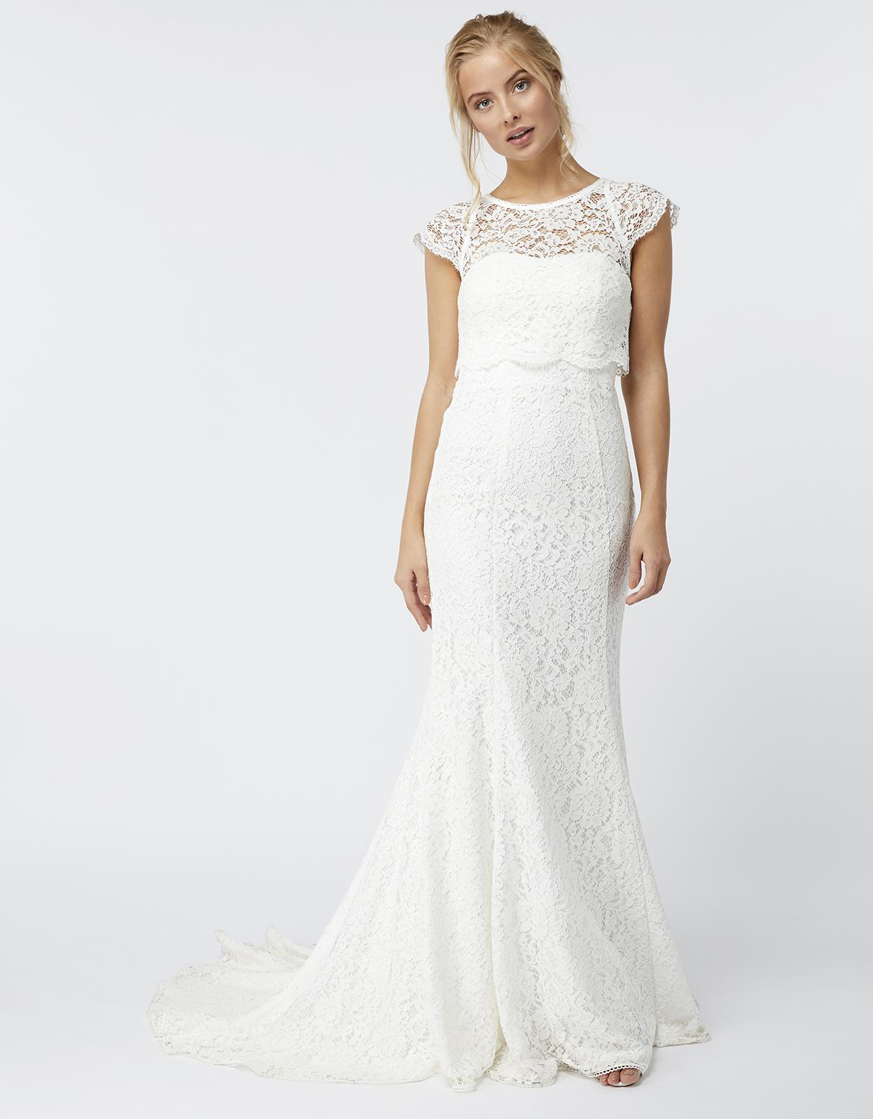 Monsoon Alondra Lace Bridal Dress in White - Lyst
